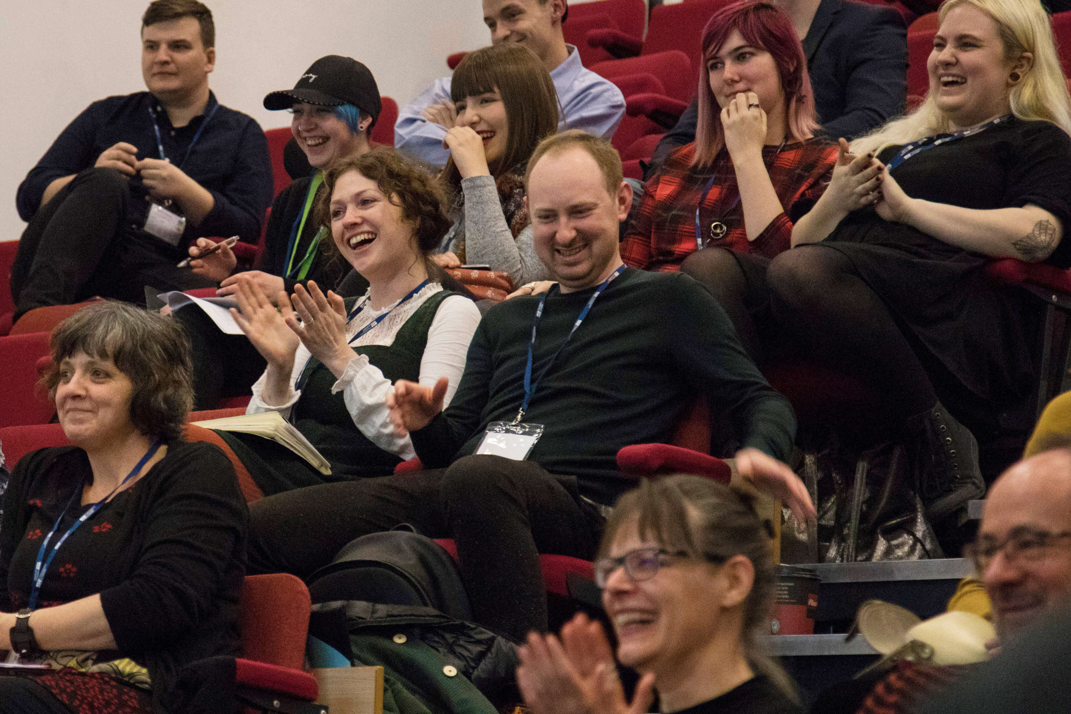 People enjoying FORMAT19 Conference at the University of Derby