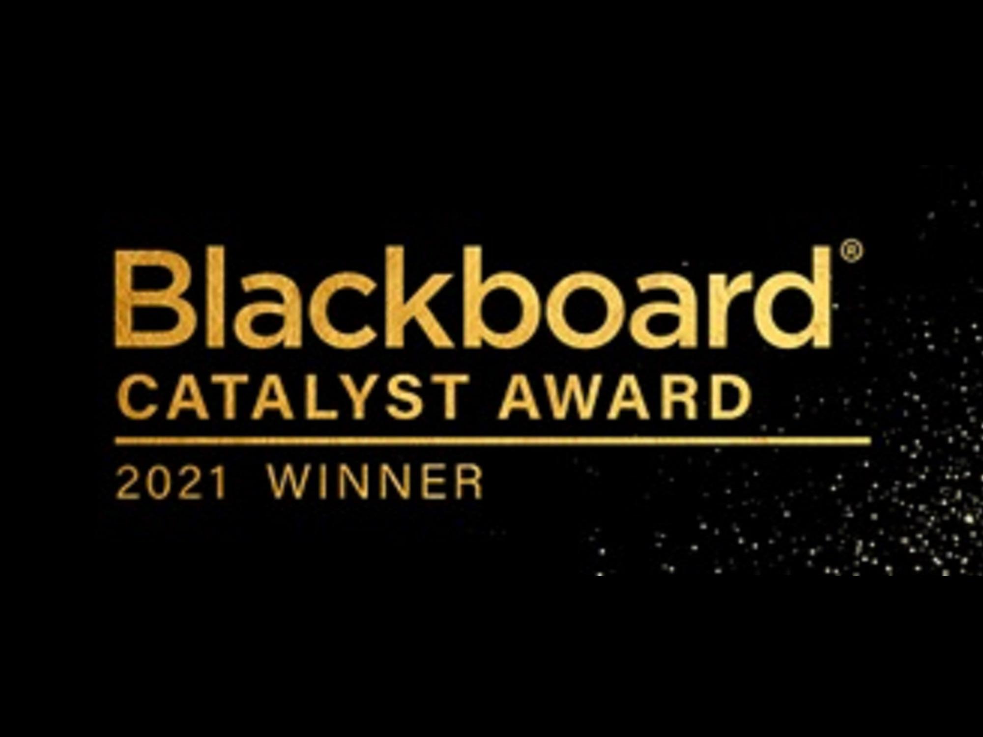 Blackboard Catalyst Award winners logo