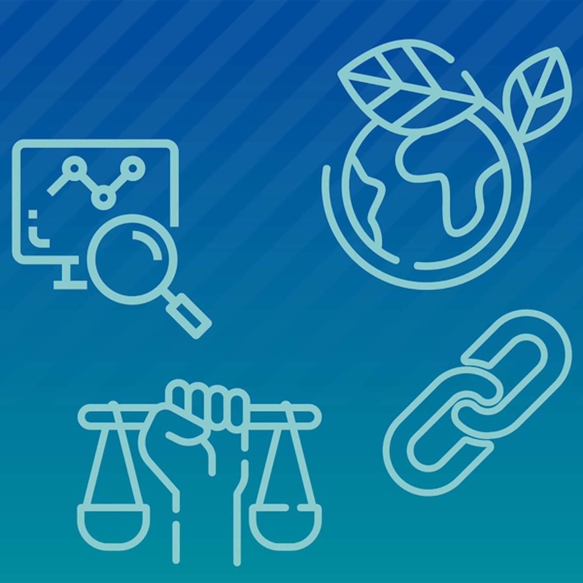 Icons symbolising teaching