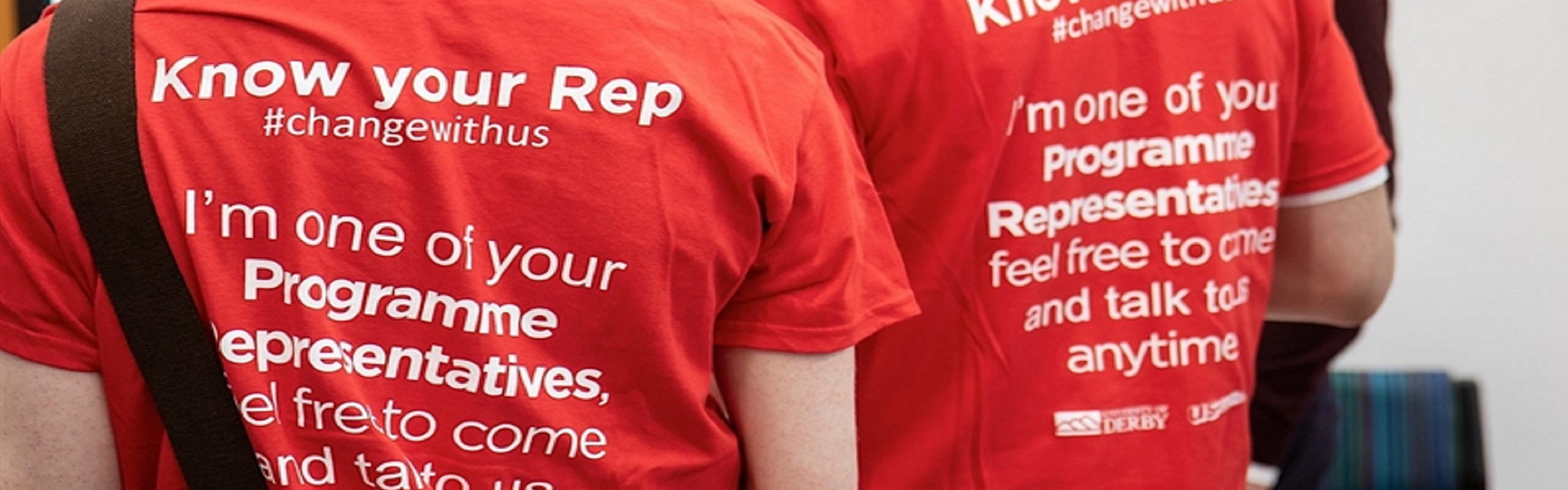 Message written on the back of Programme rep's t-shirt