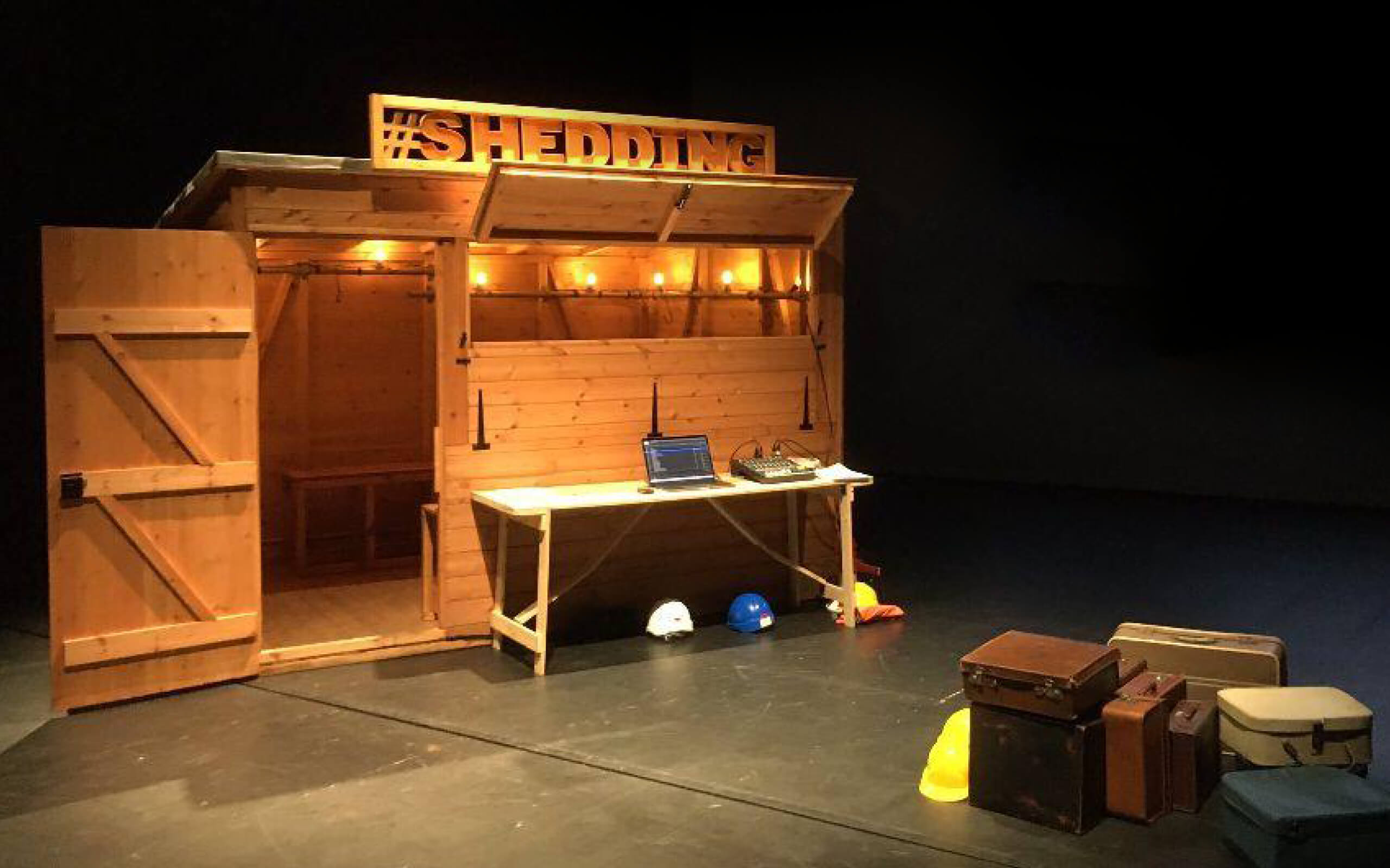 A Picture of the wooden SHED