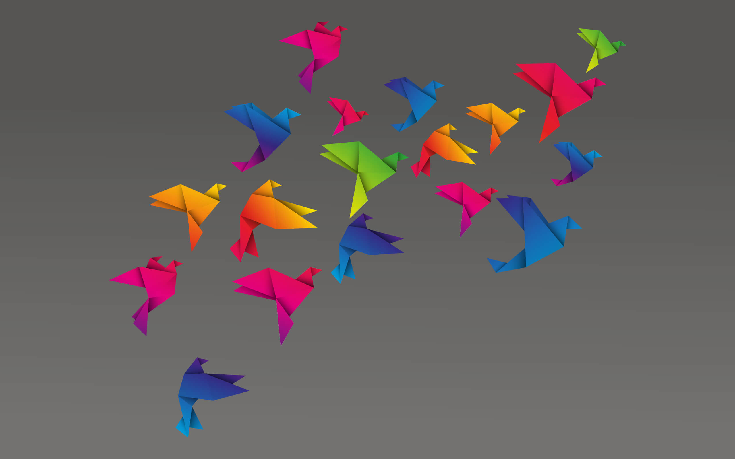 Picture of paper birds flying