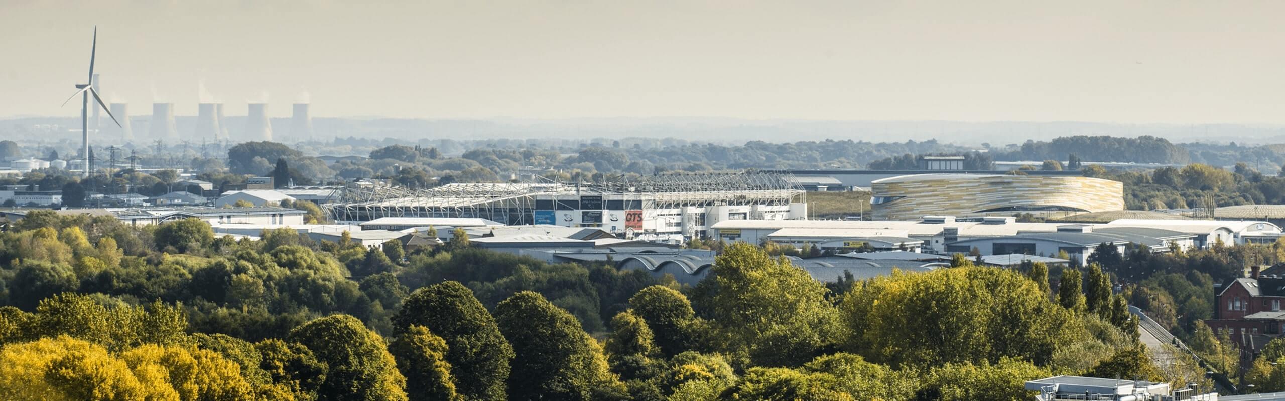 Panaromic view of Derby city