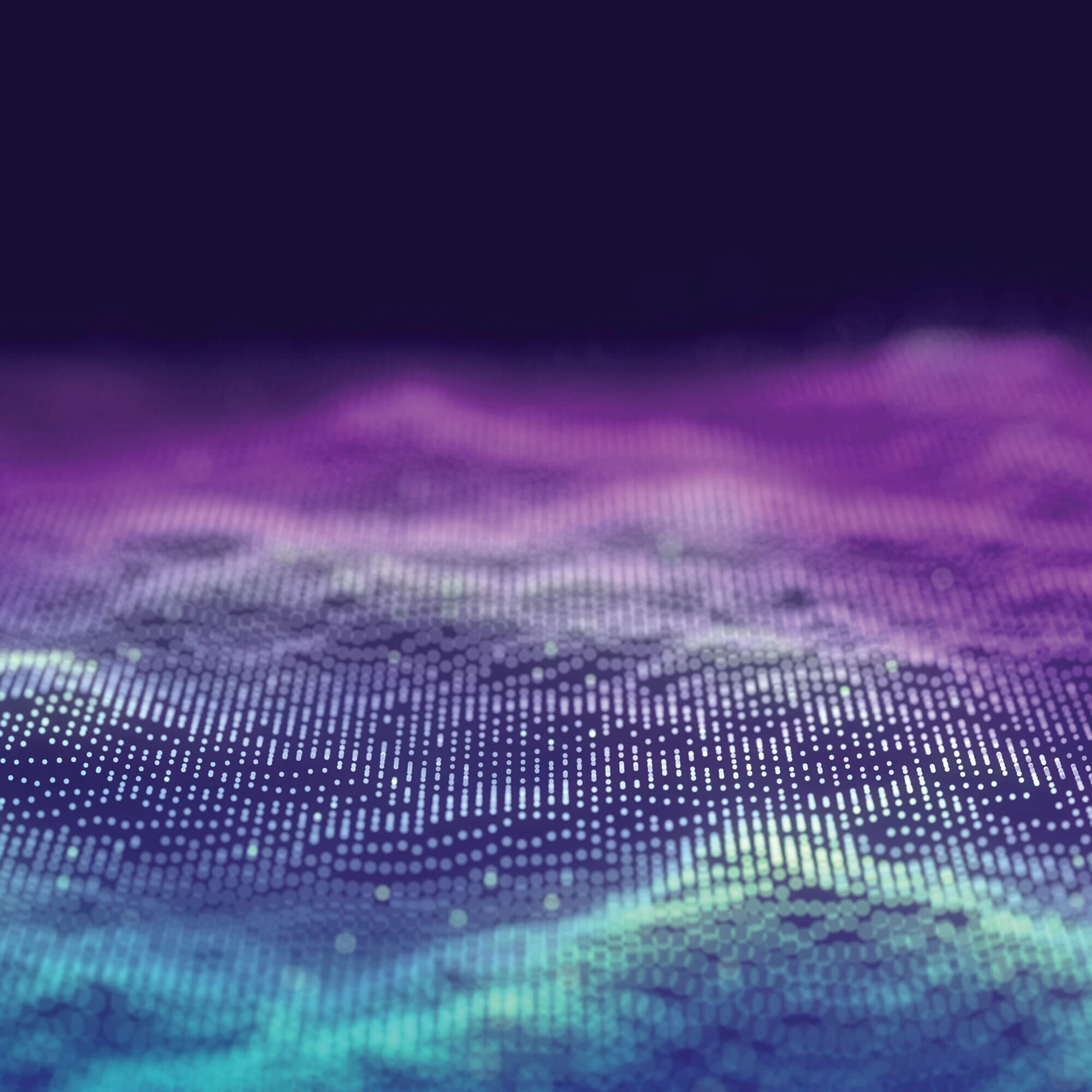 Abstract waves with gradient colour, from purple to teal