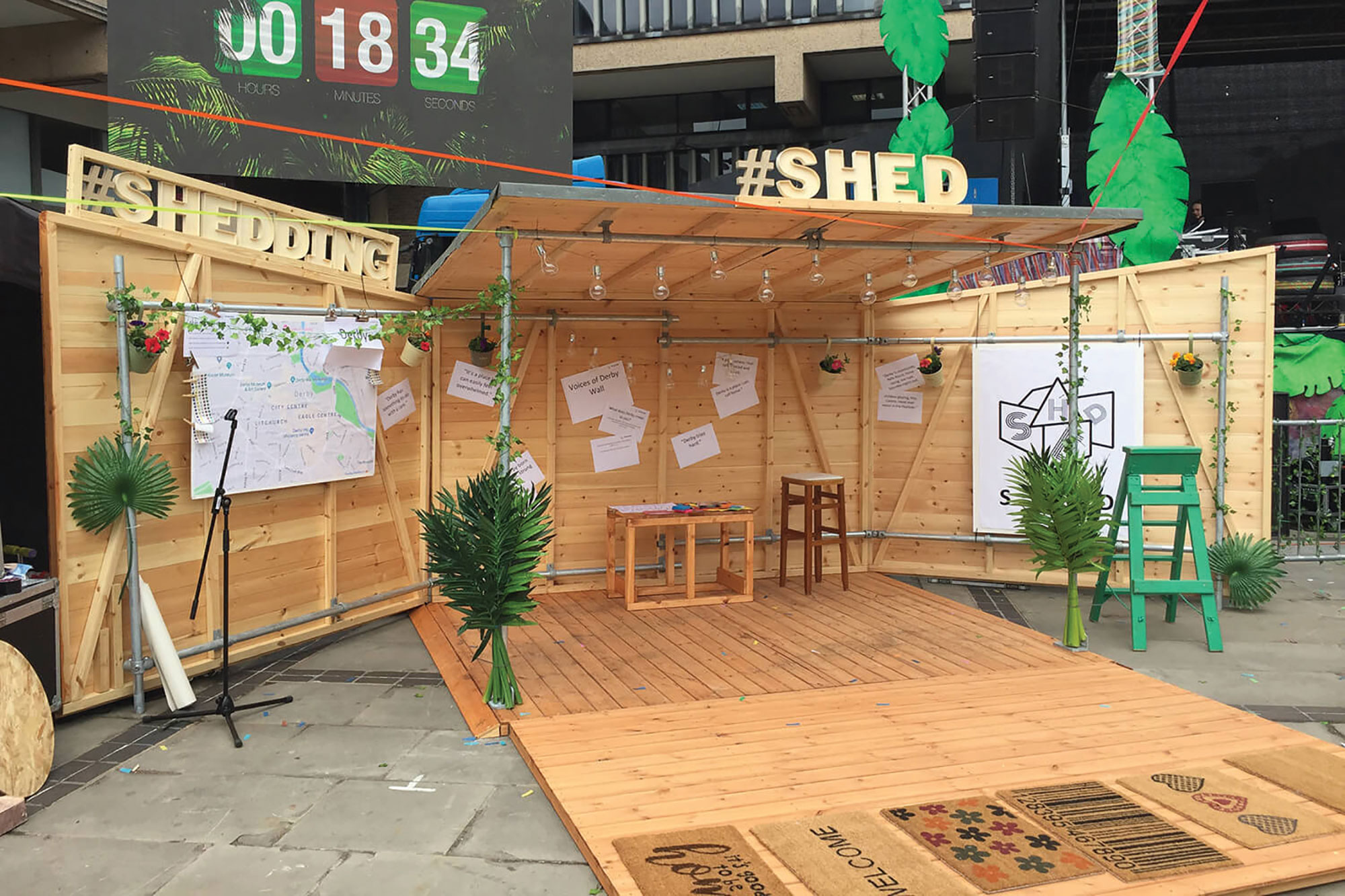 The Social Higher Education Depot (S.H.E.D) opened out into outdoor performance space
