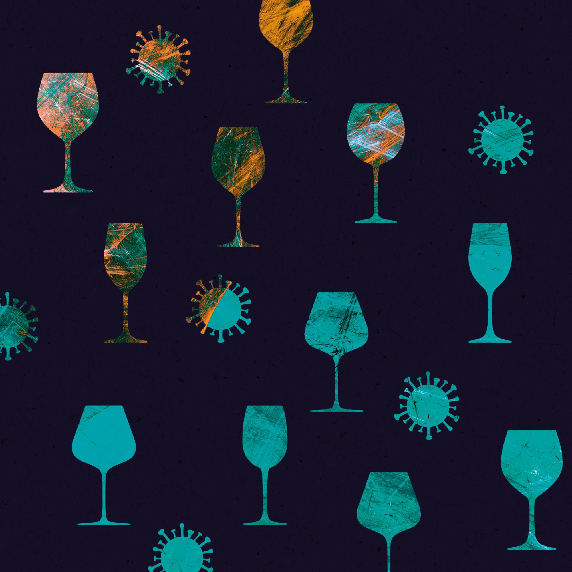 illustration of wine glasses