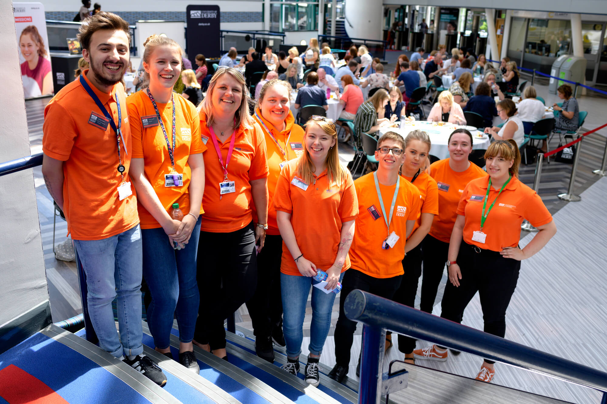 Group of Student Ambassadors smiling at the 2019 progression conference