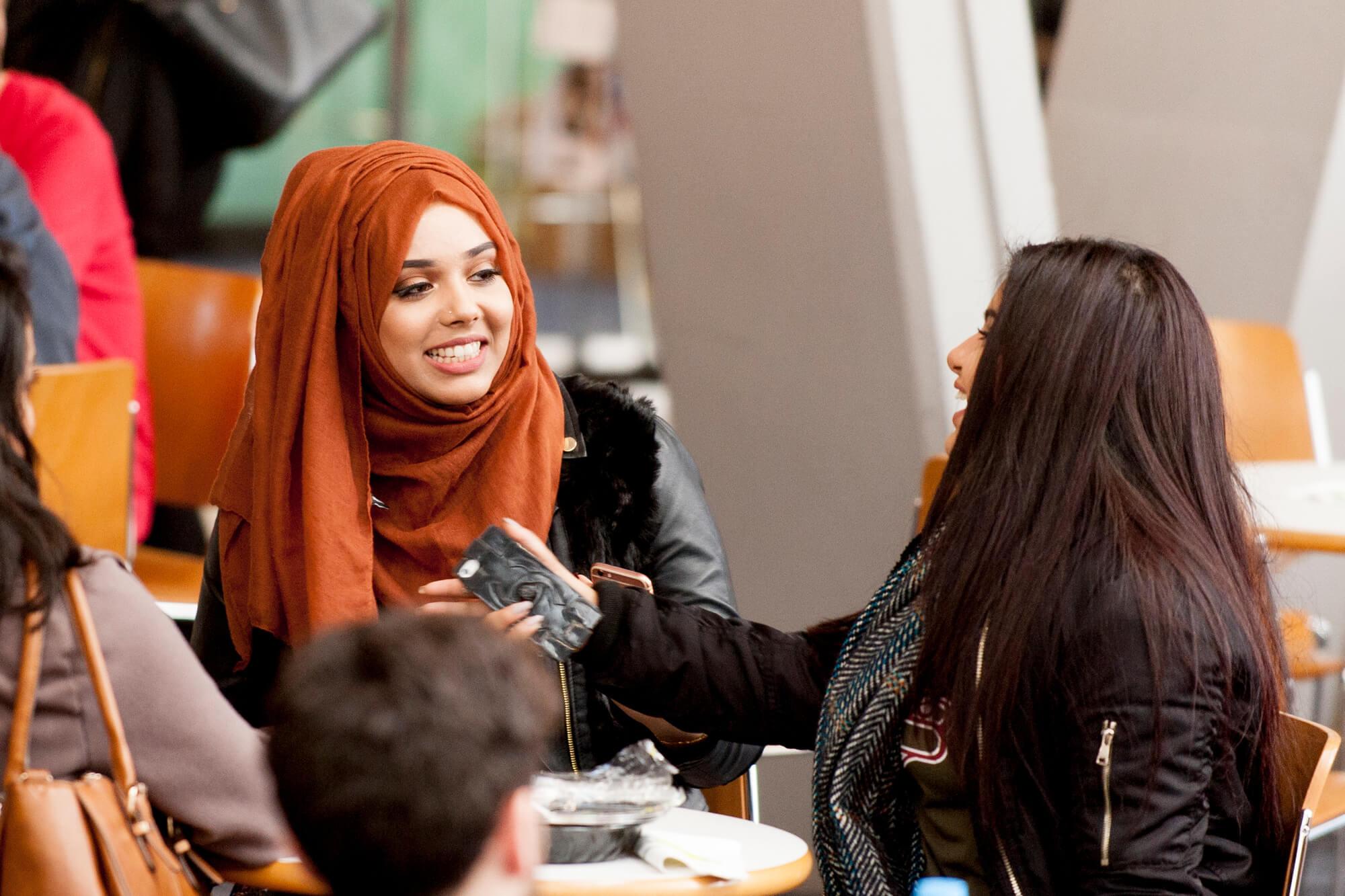 Students socialising