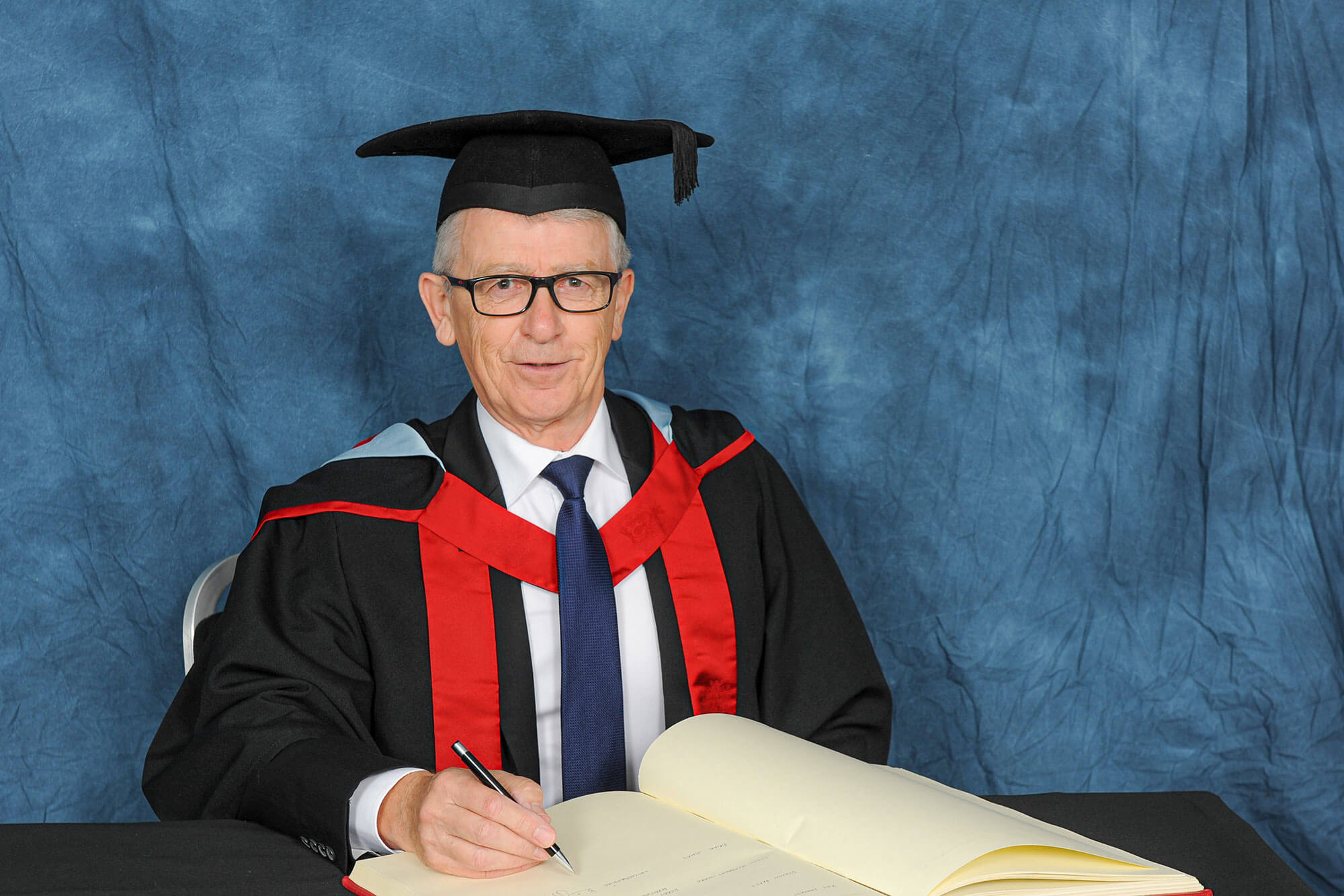 Brian Jones receiving his honorary degree, HonMUniv, July 2019