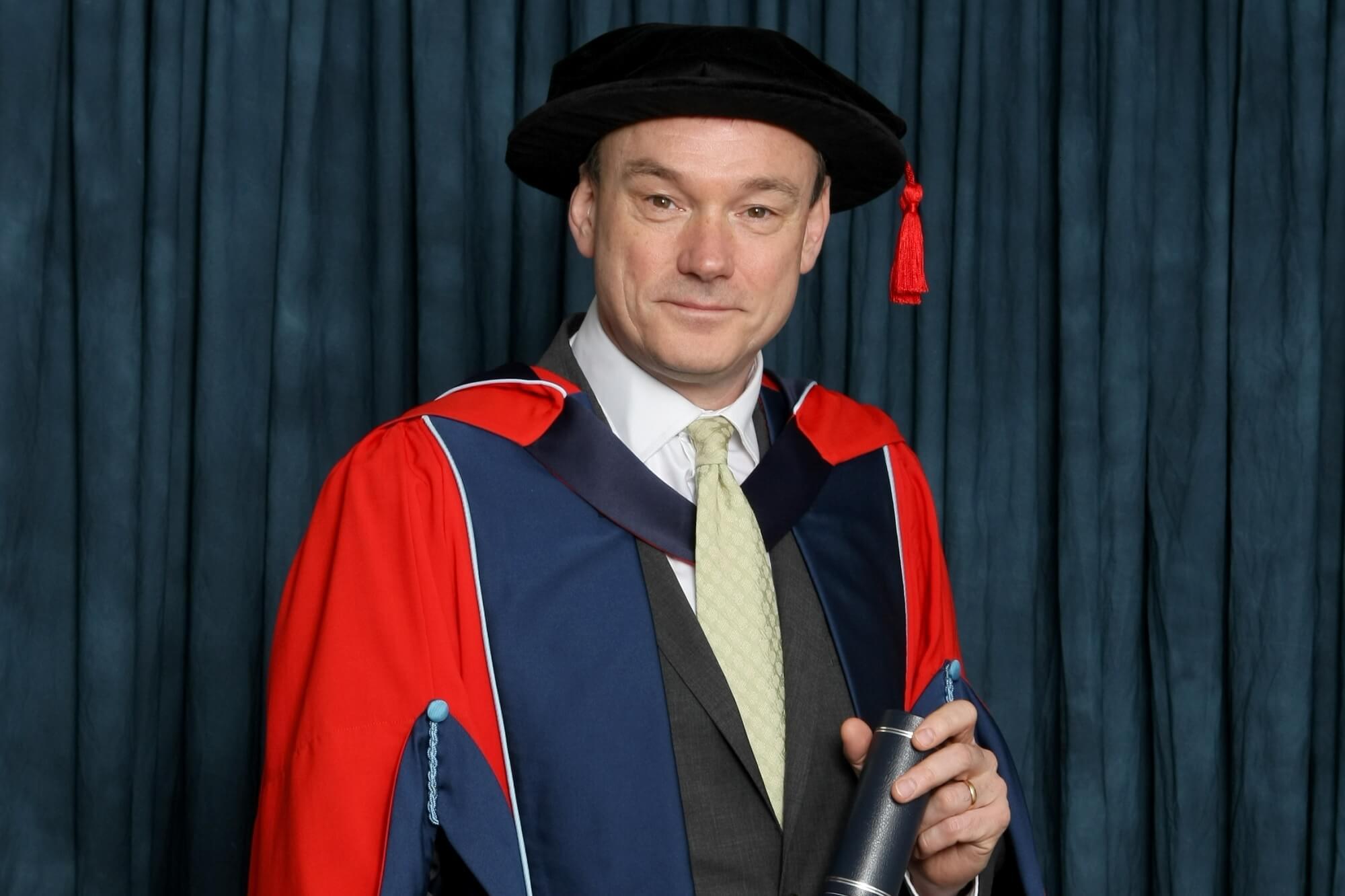 Stephen Page receiving his honorary degree (HonDUniv)