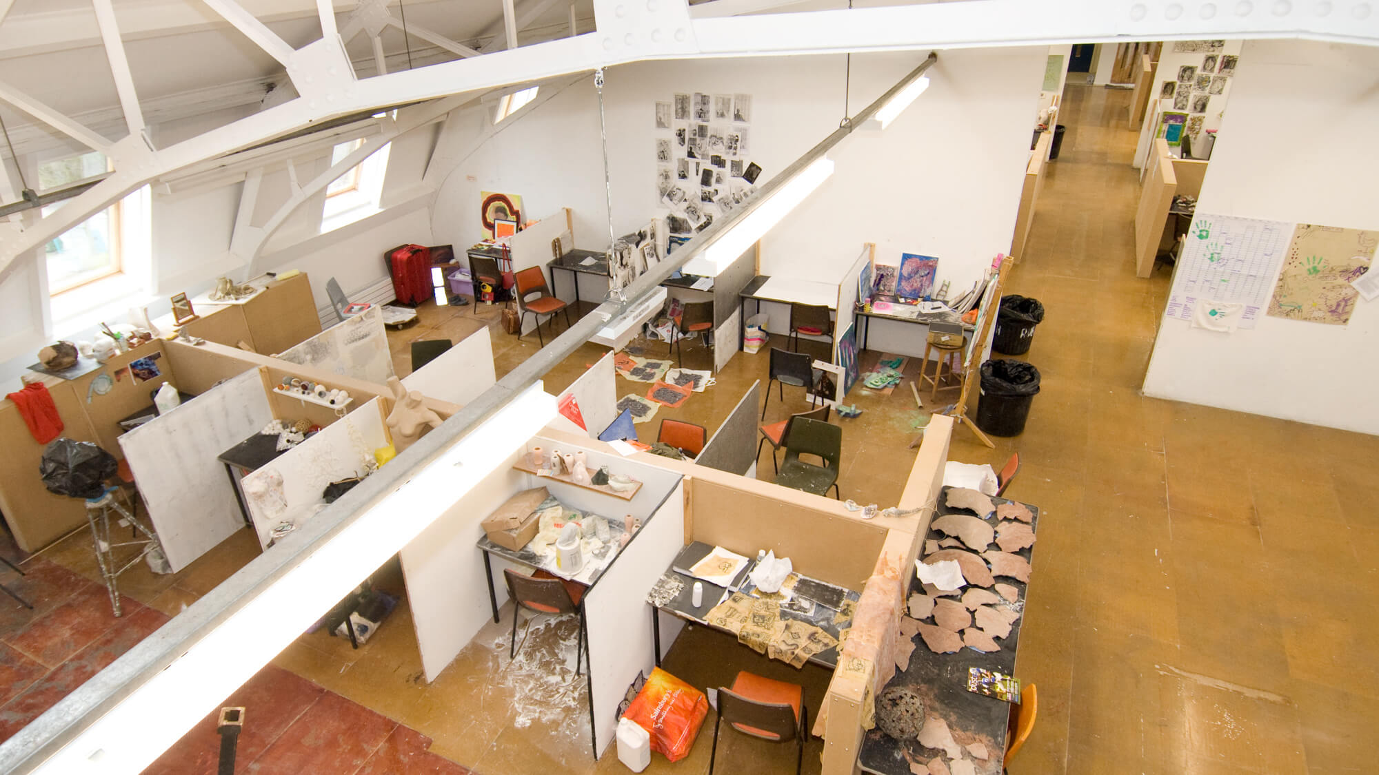 Art studios from above