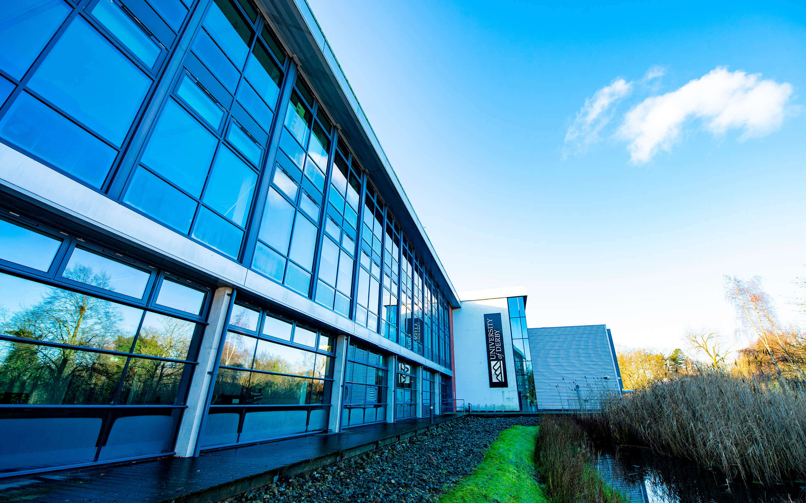 Markeaton Street campus, side view of the central building