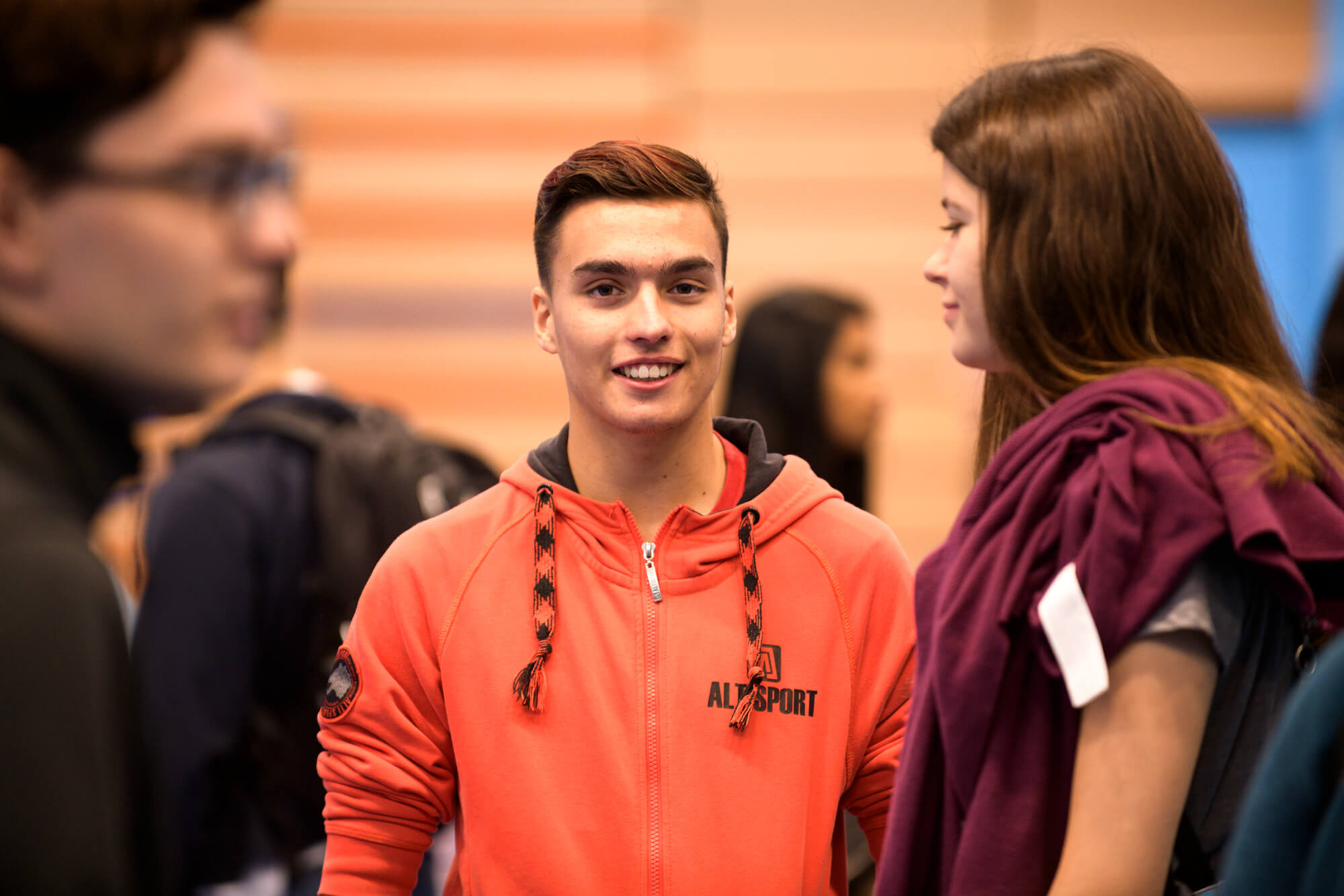 International male student at the University of Derby's welcome event held at the Sport Centre, Kedleston Road.