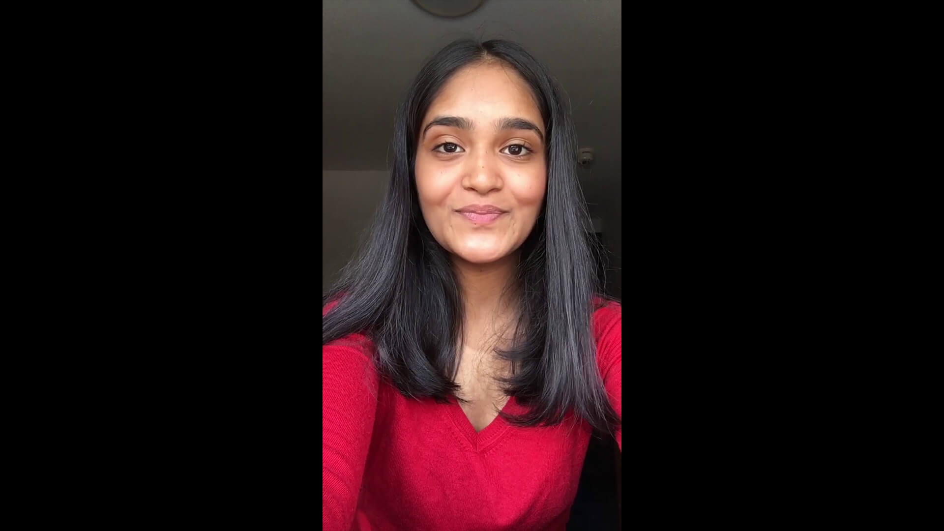 International student Mohika Shankar