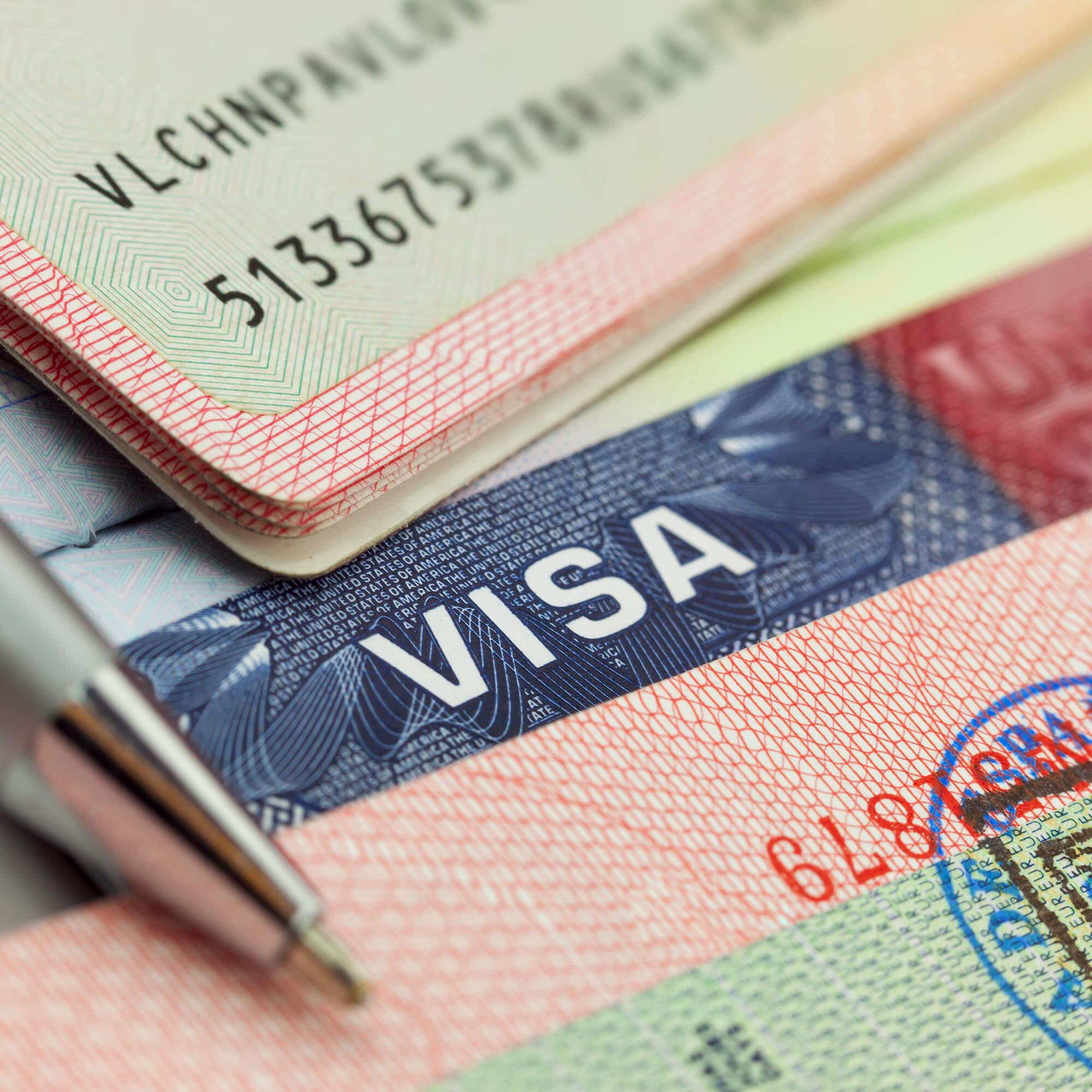 Visa and passport documents