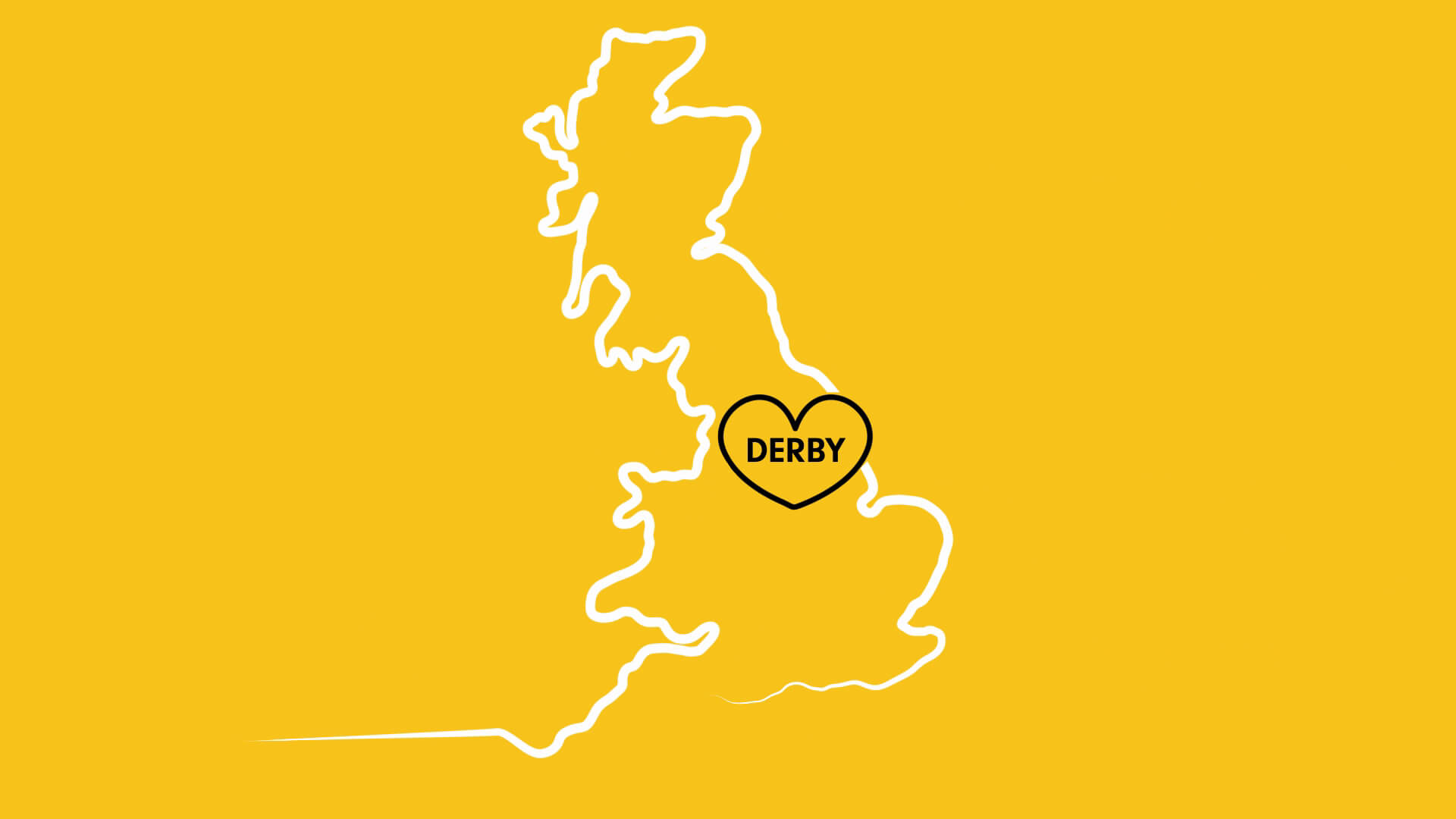 An animated video about where the University of Derby is located in the heart of England.
