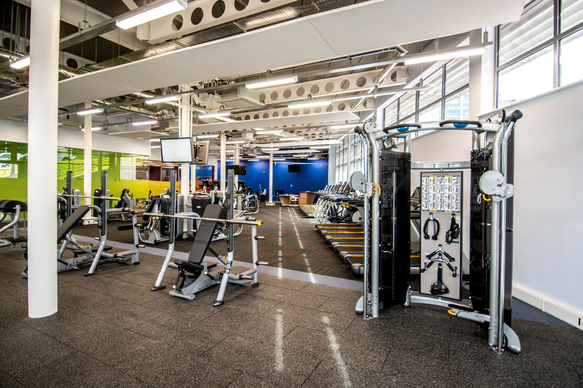 Interior views of the Fitness Suite at the Sports Centre