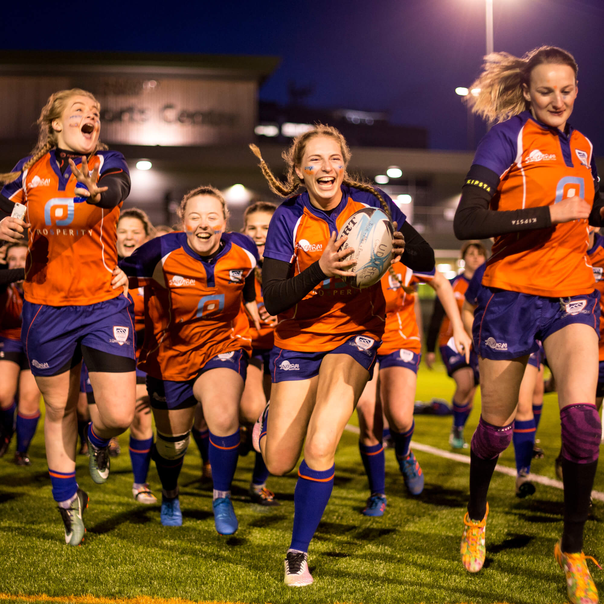 Women's Rugby Team at Varsity 2018