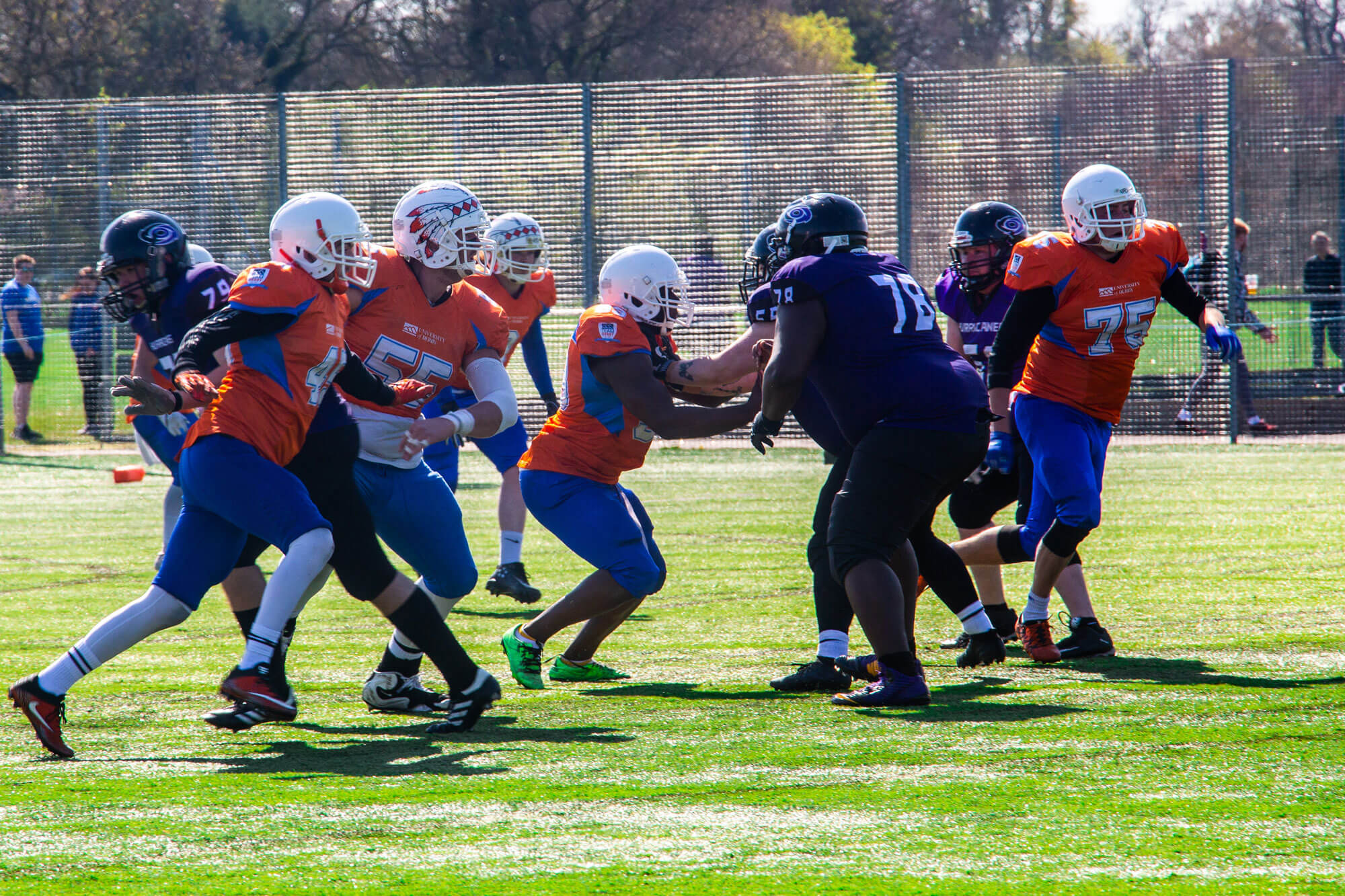 Team Derby playing American football