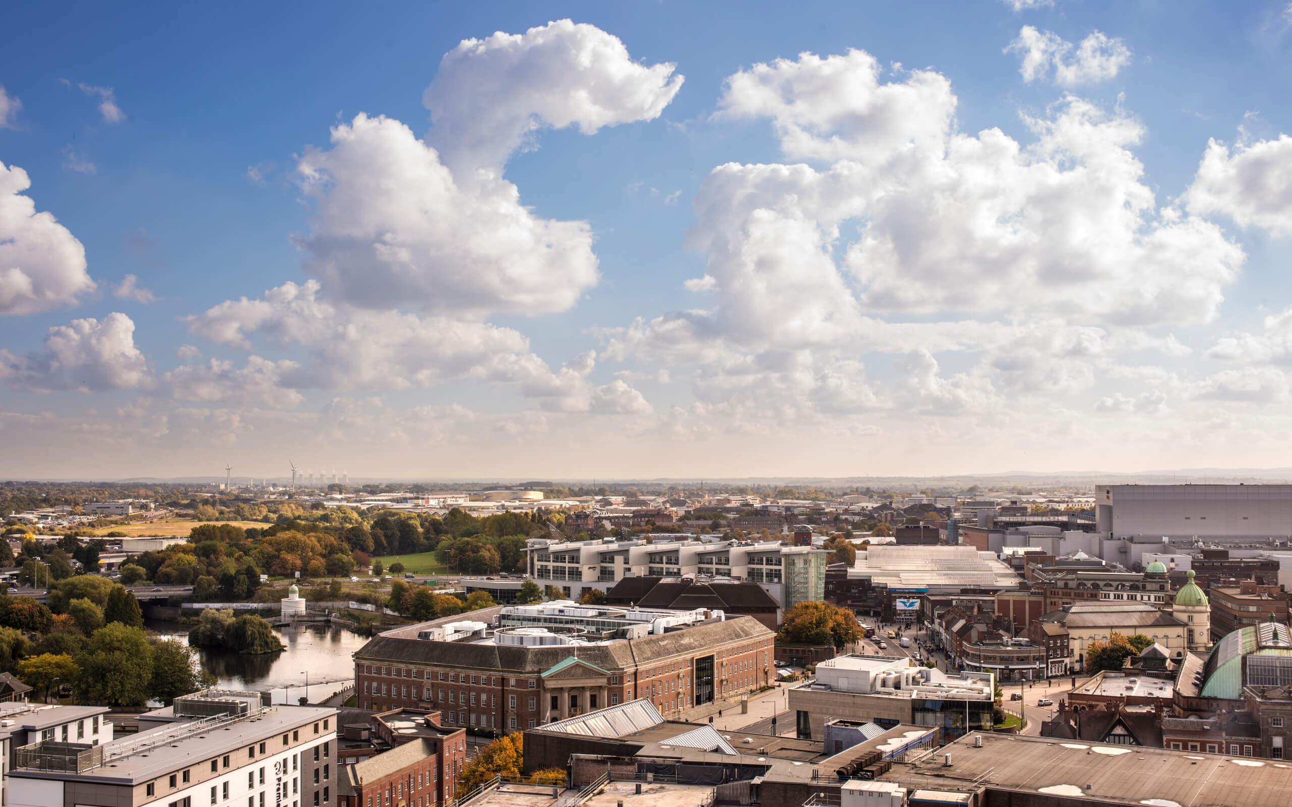 Derby city skyline