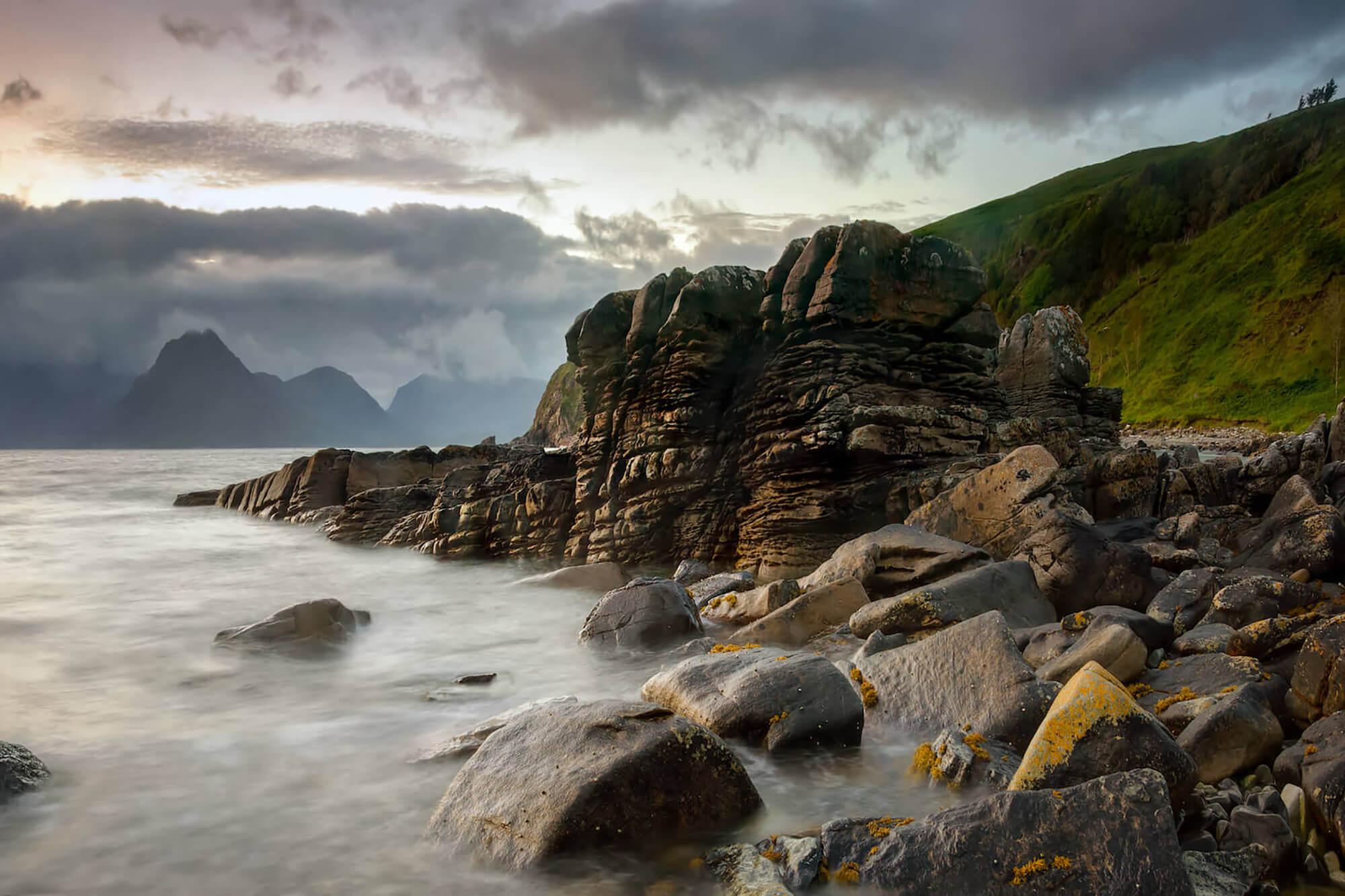 a rocky coastline