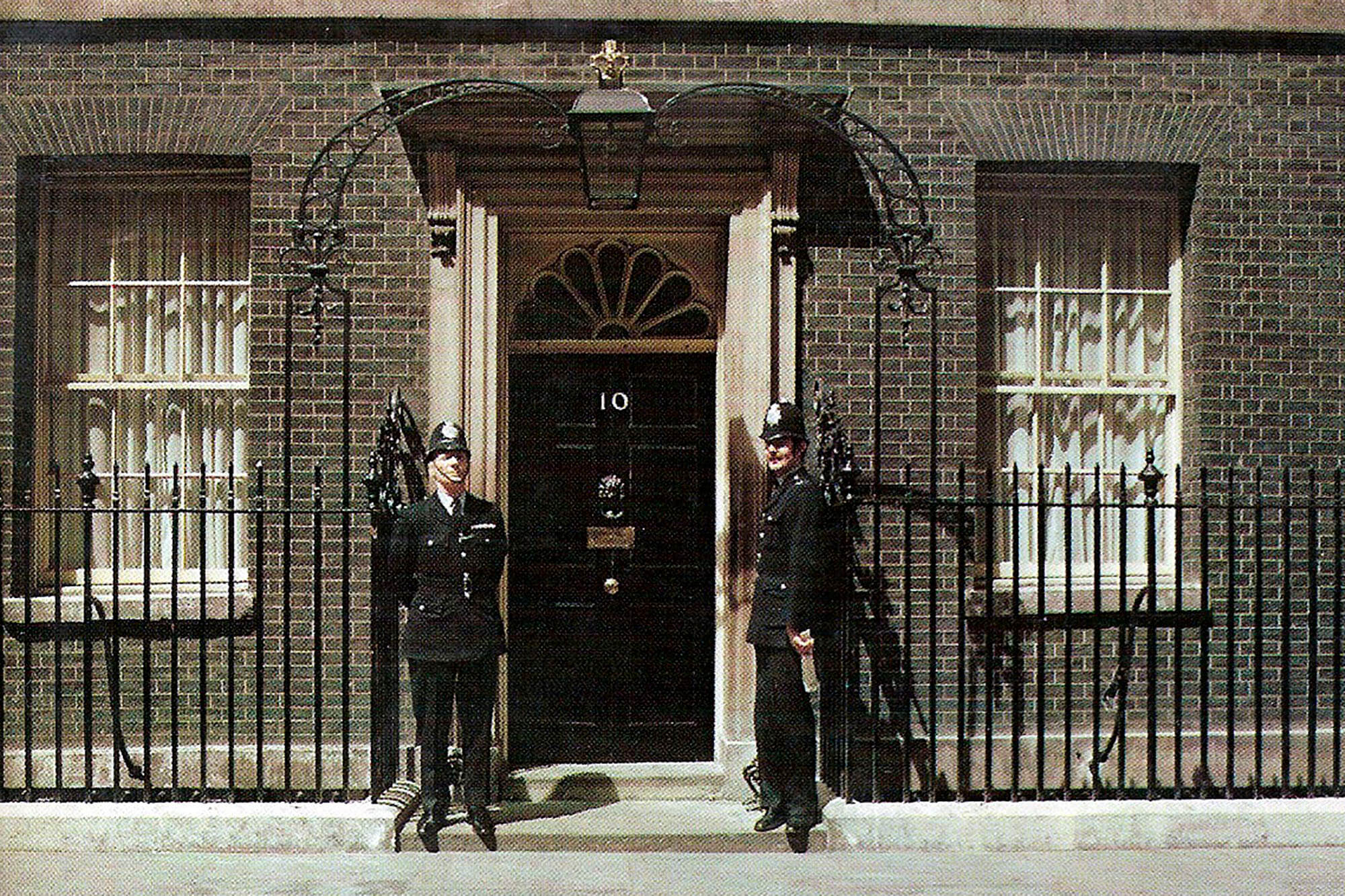 Two police officers outside no. 10 Downing Street in 1979