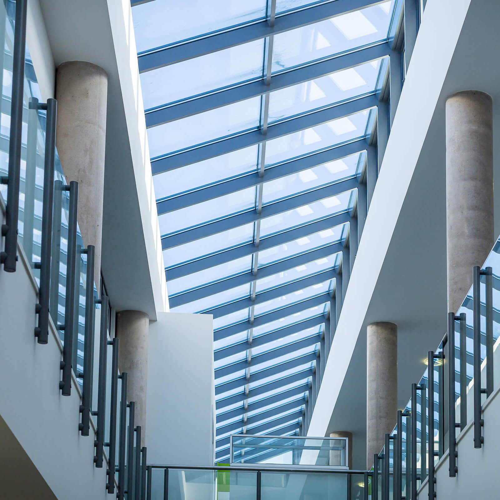 the glass roof of Markeaton Street