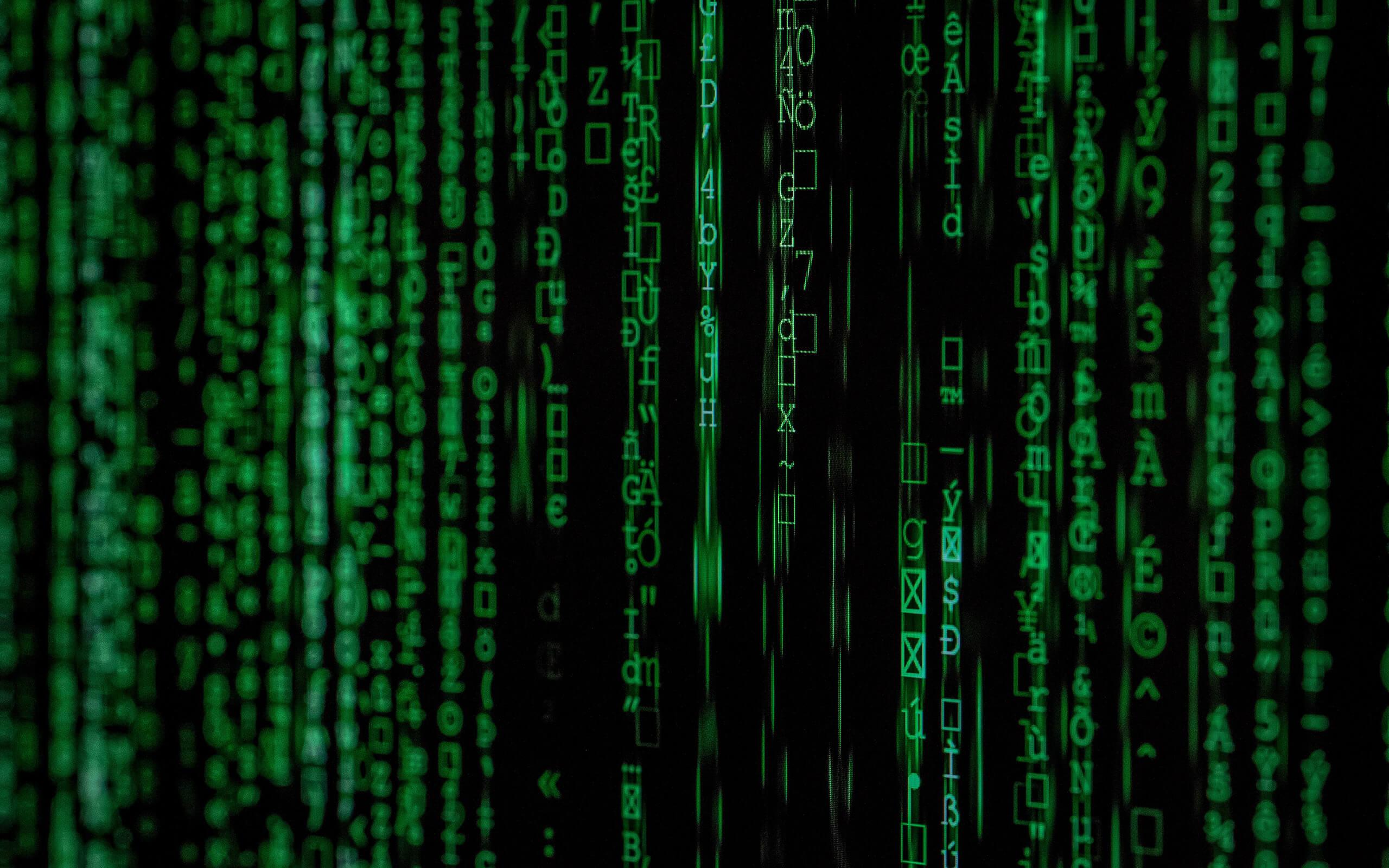 data matrix on a screen