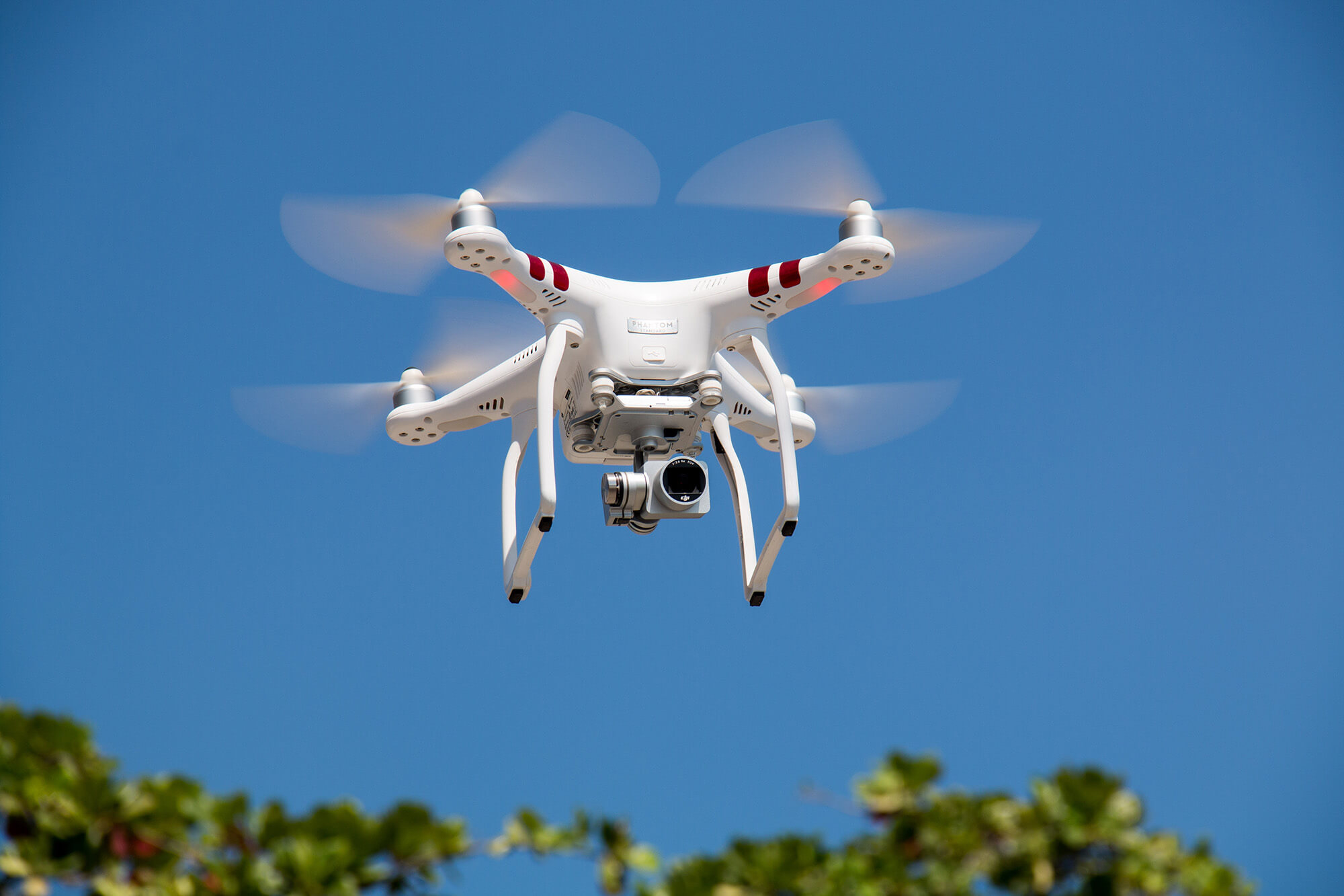 a flying drone with camera
