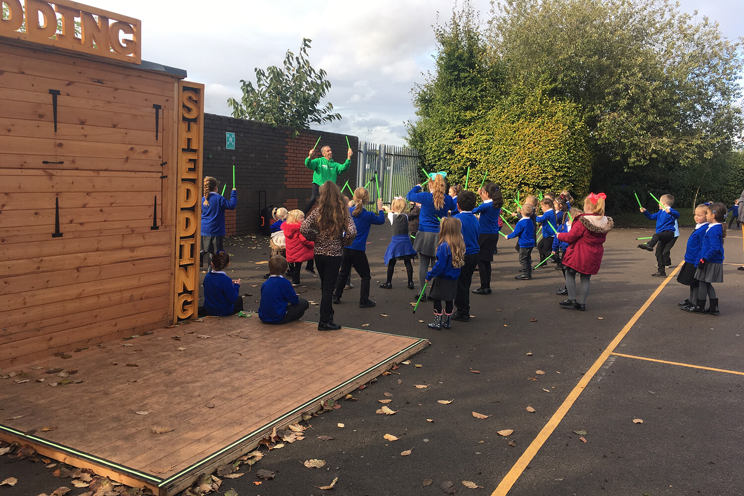SHED being used as a school activities hub