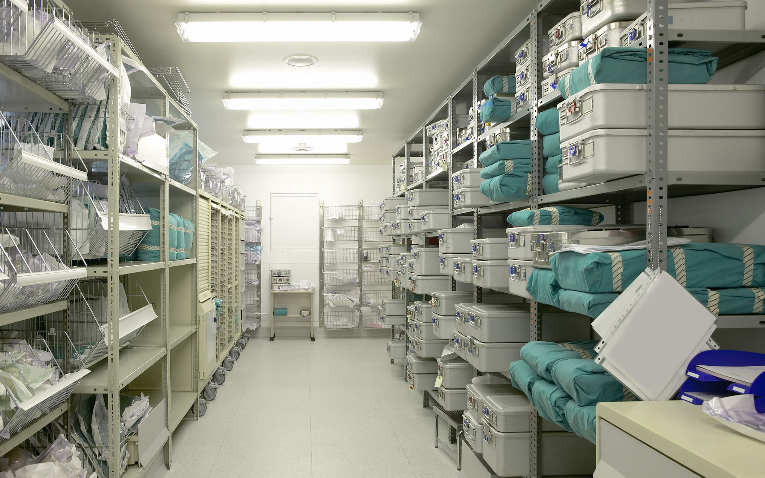 a hospital store room