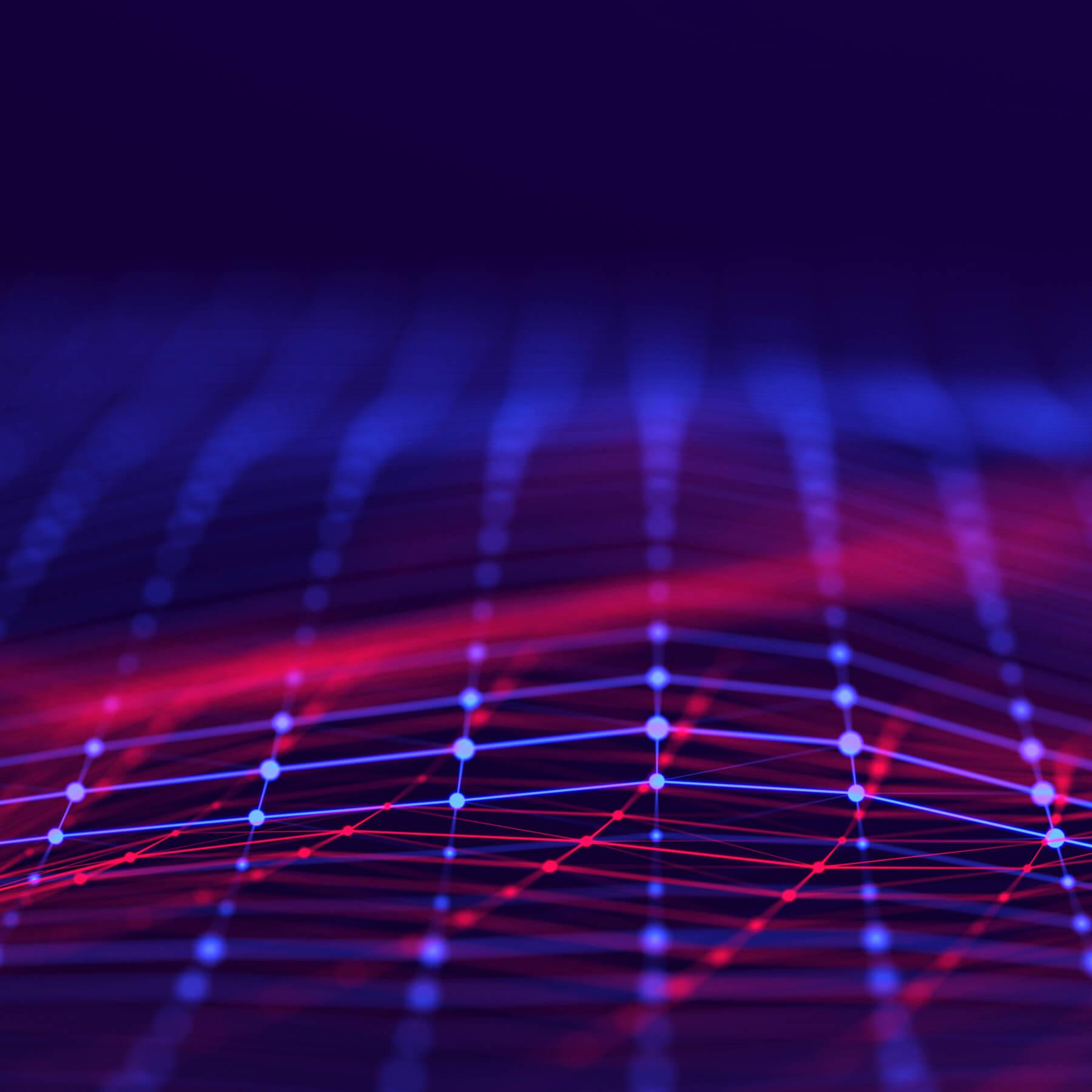 digital representation of a network grid