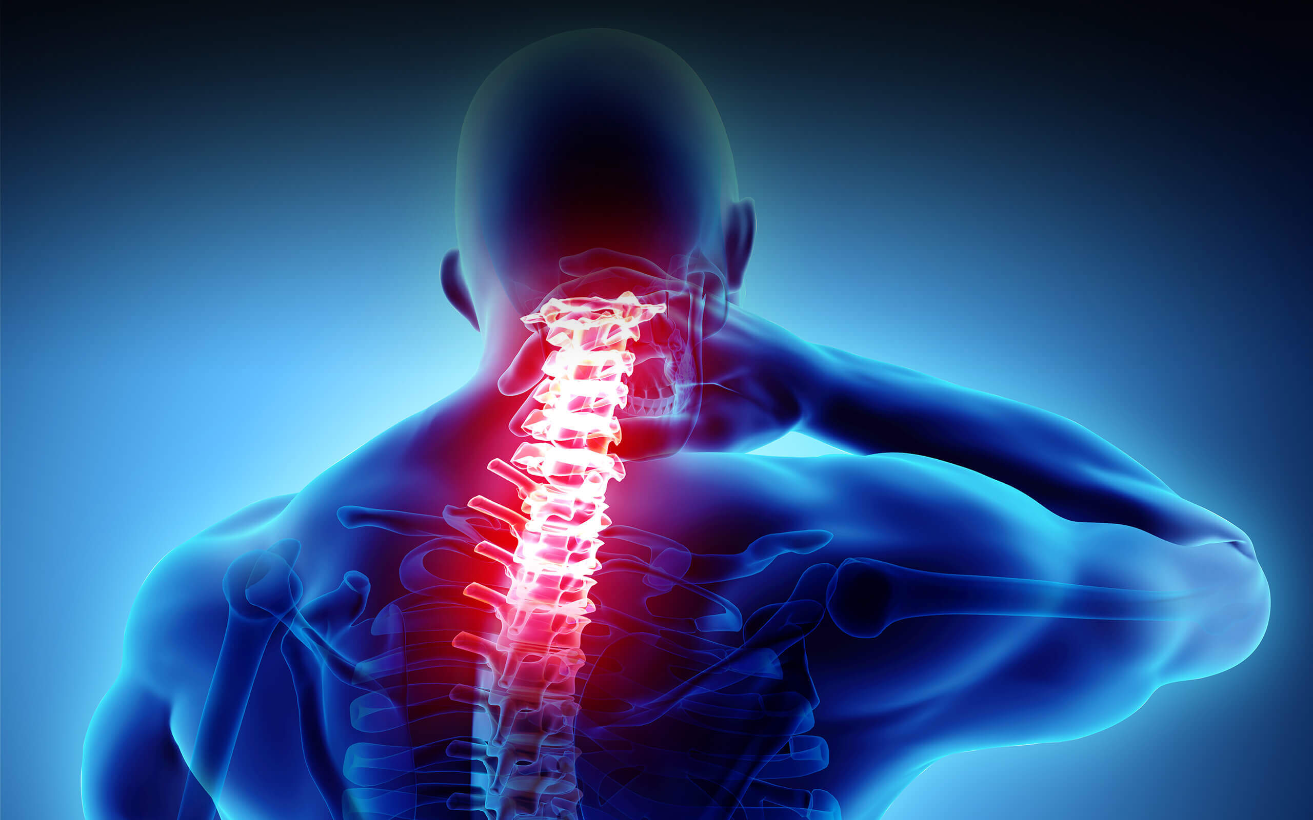 Abstract impression of chronic pain in the spine