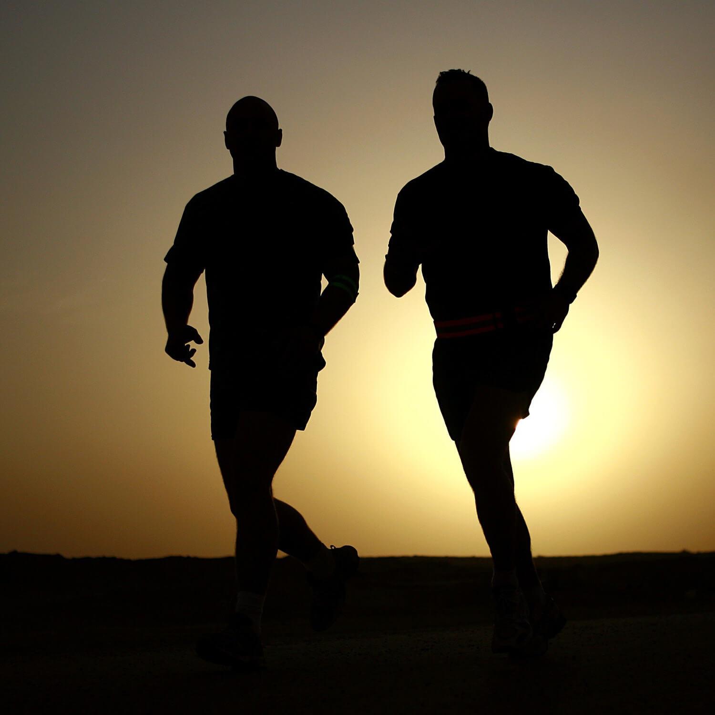 jogging men