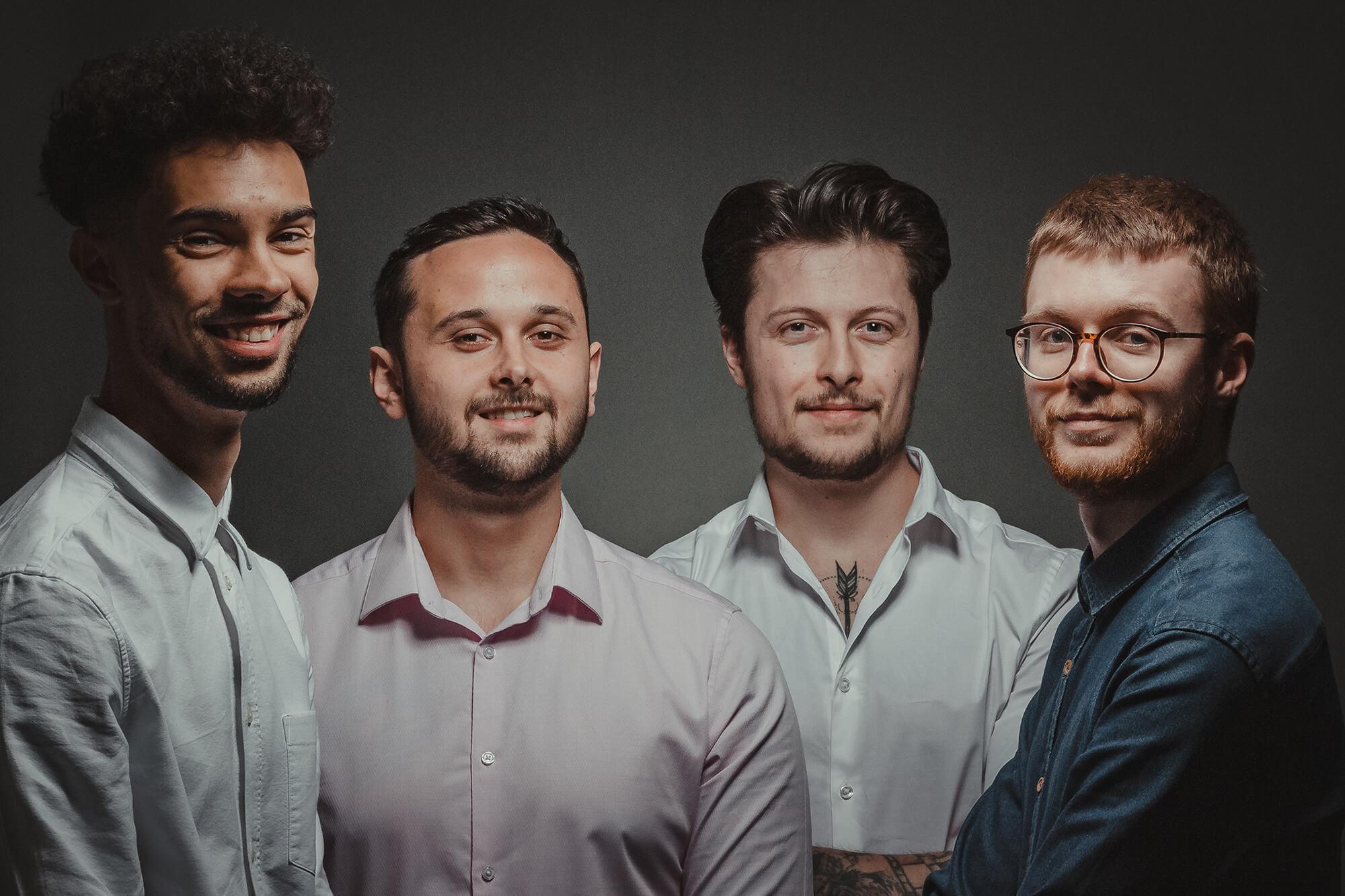 The Goldbox team: Odhran Taylor, James Heaney, Josh Spaticchia, and Ben Collison