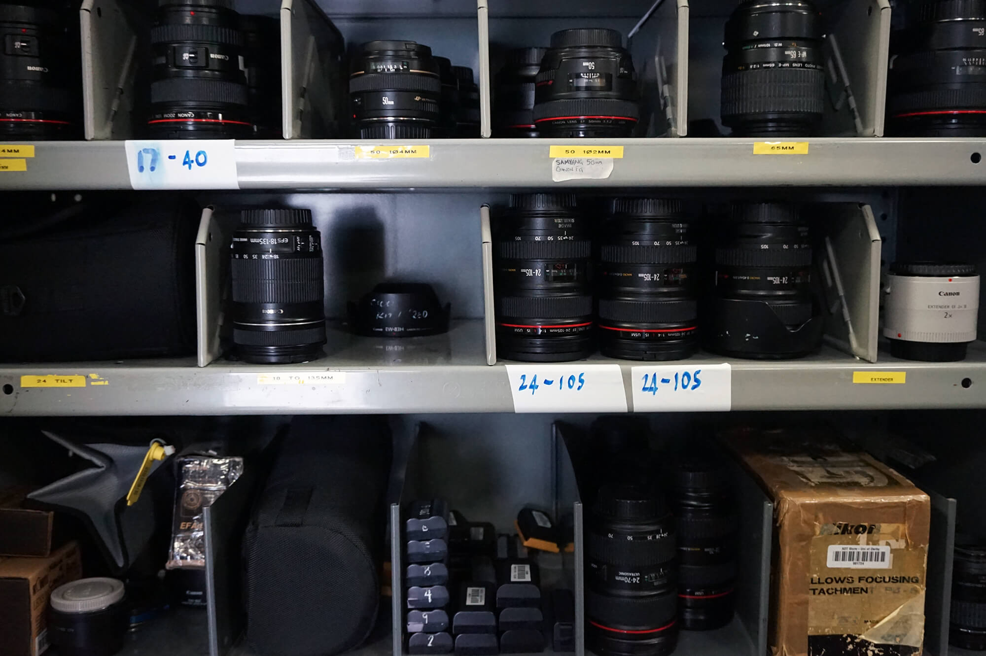 Camera equipment available to loan from the Media Loan Hub