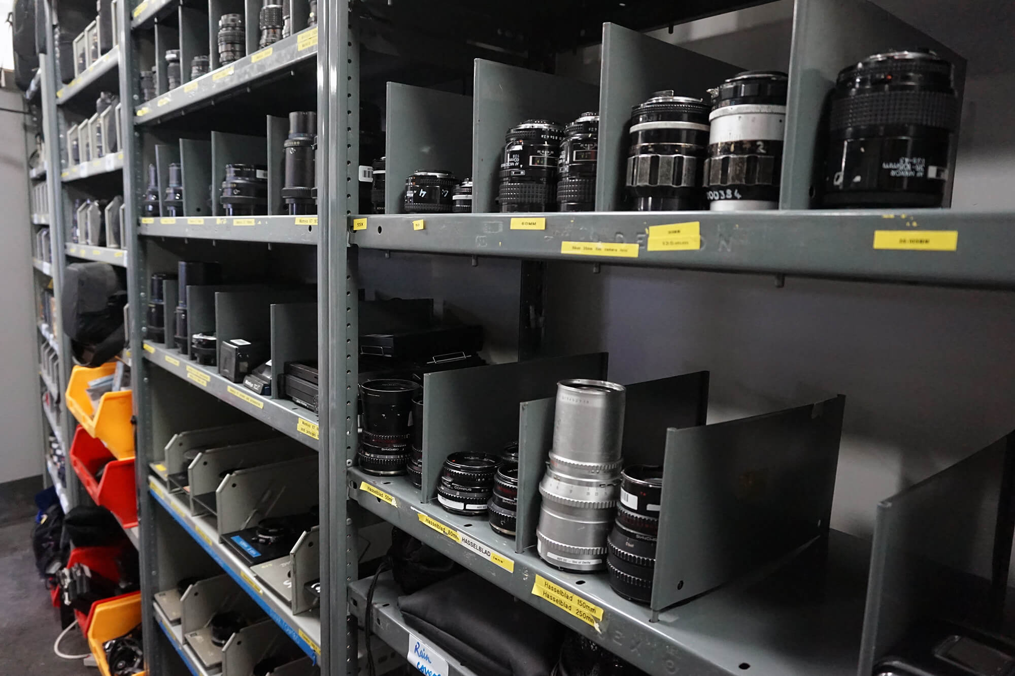 Camera lenses available from the Media Loan Hub