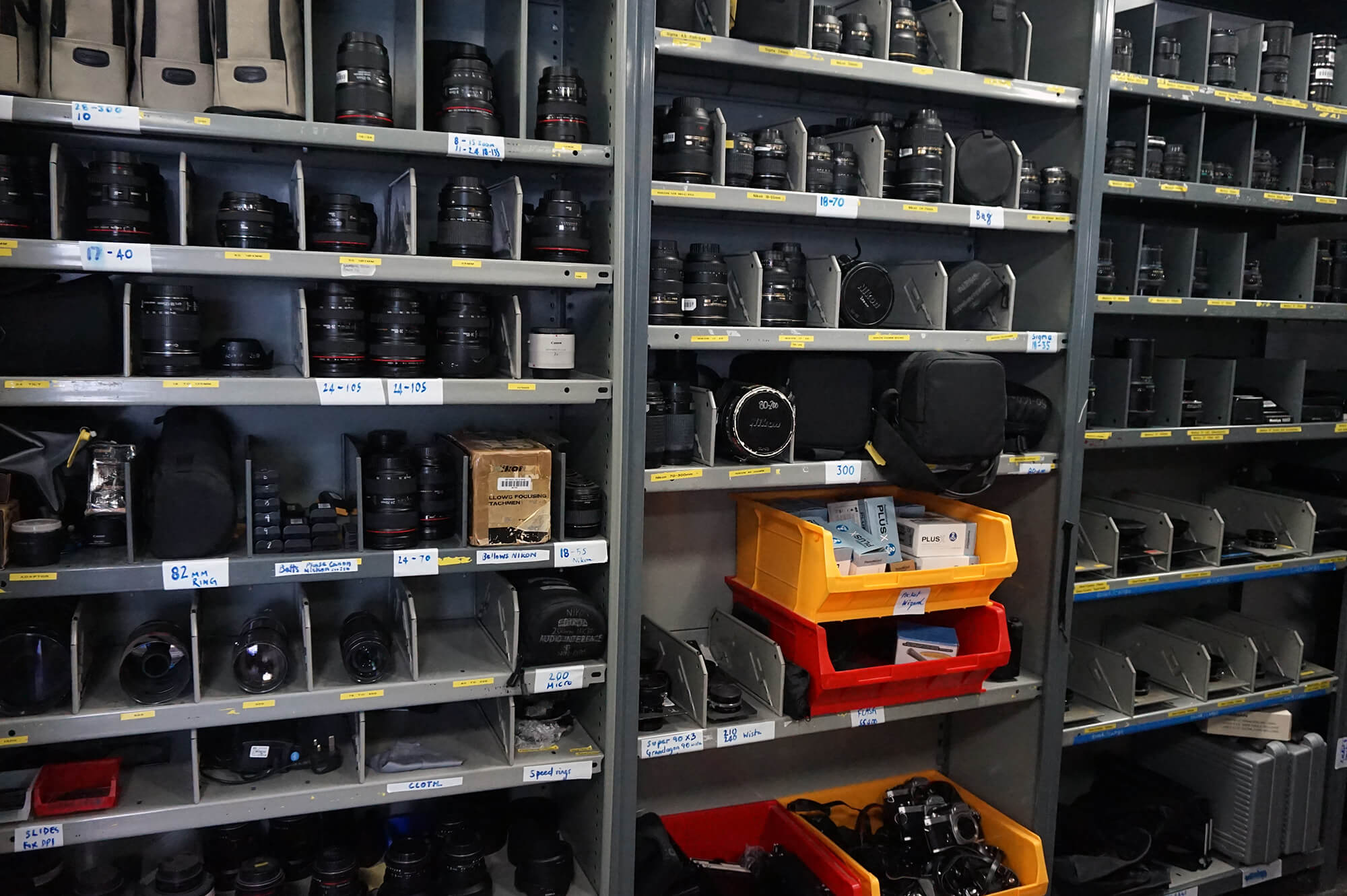 Camera equipment available from the Media Loan Hub