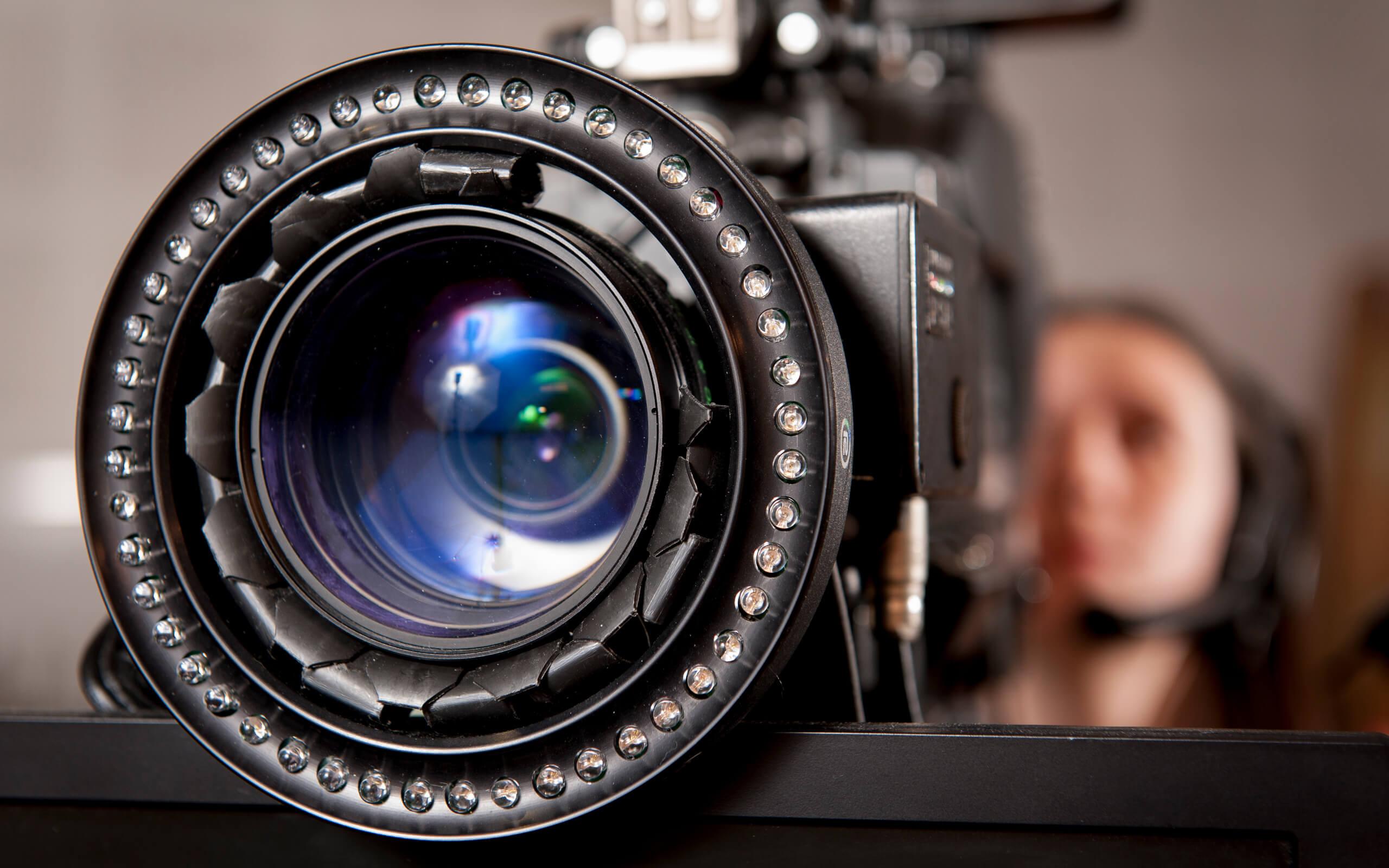 A close up shot of a camera