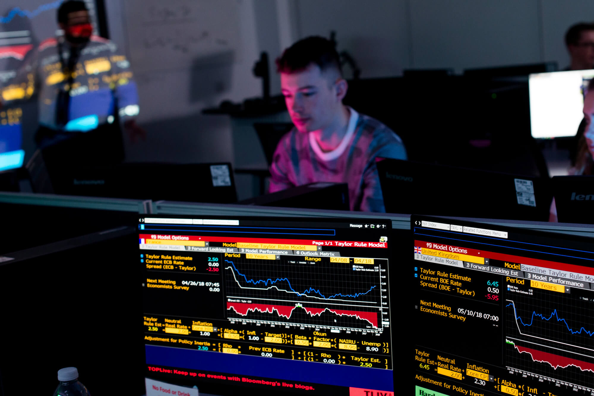 Student trading in the Bloomberg facility
