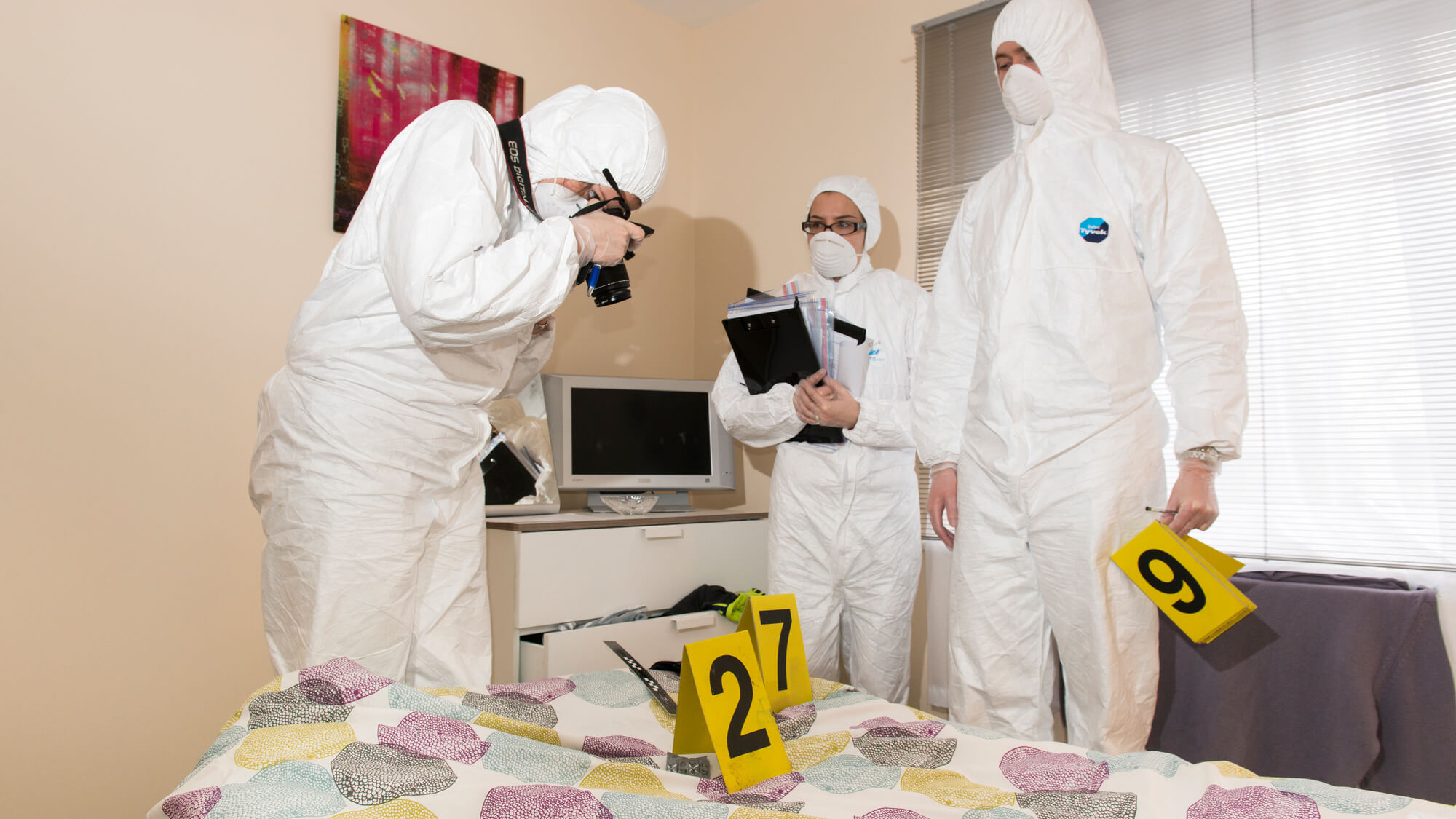 Virtual tour of our Crime Scene House