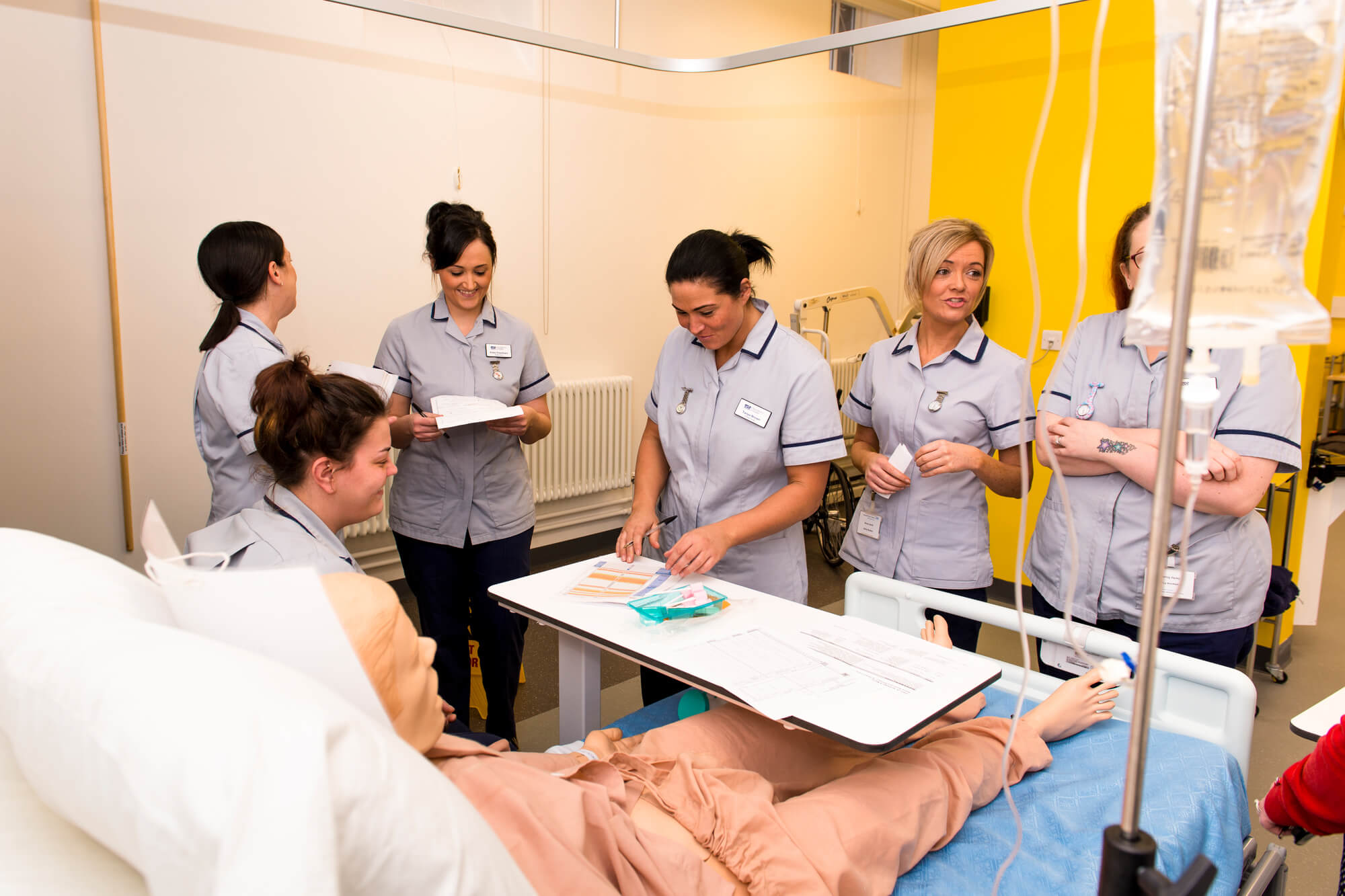 nursing students in the clinical skills suite in Chesterfield