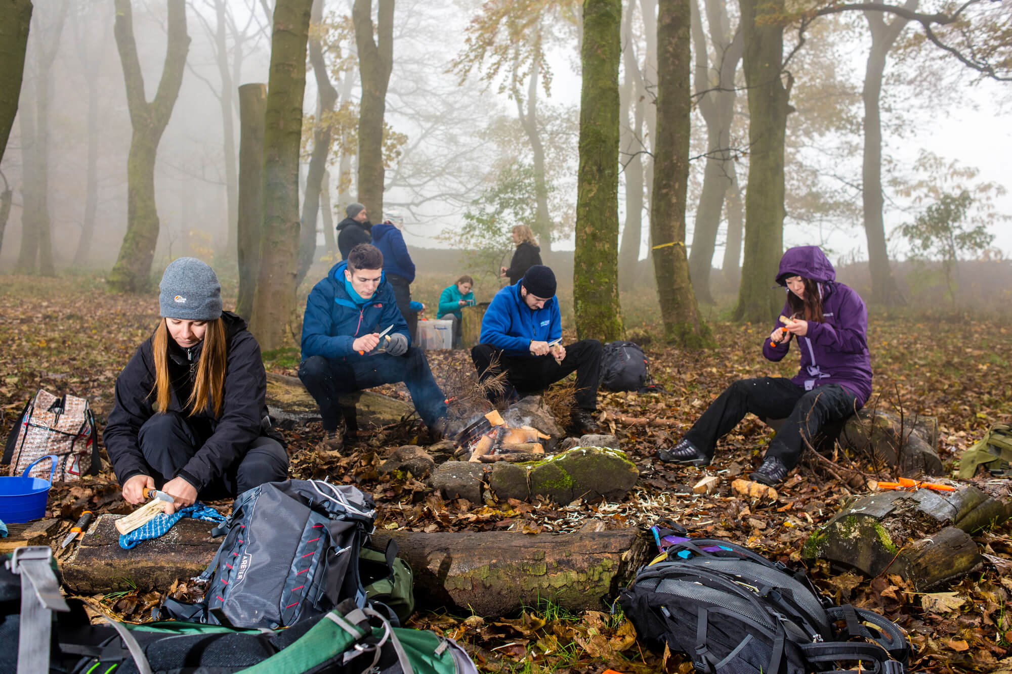 Students on a bushcraft session
