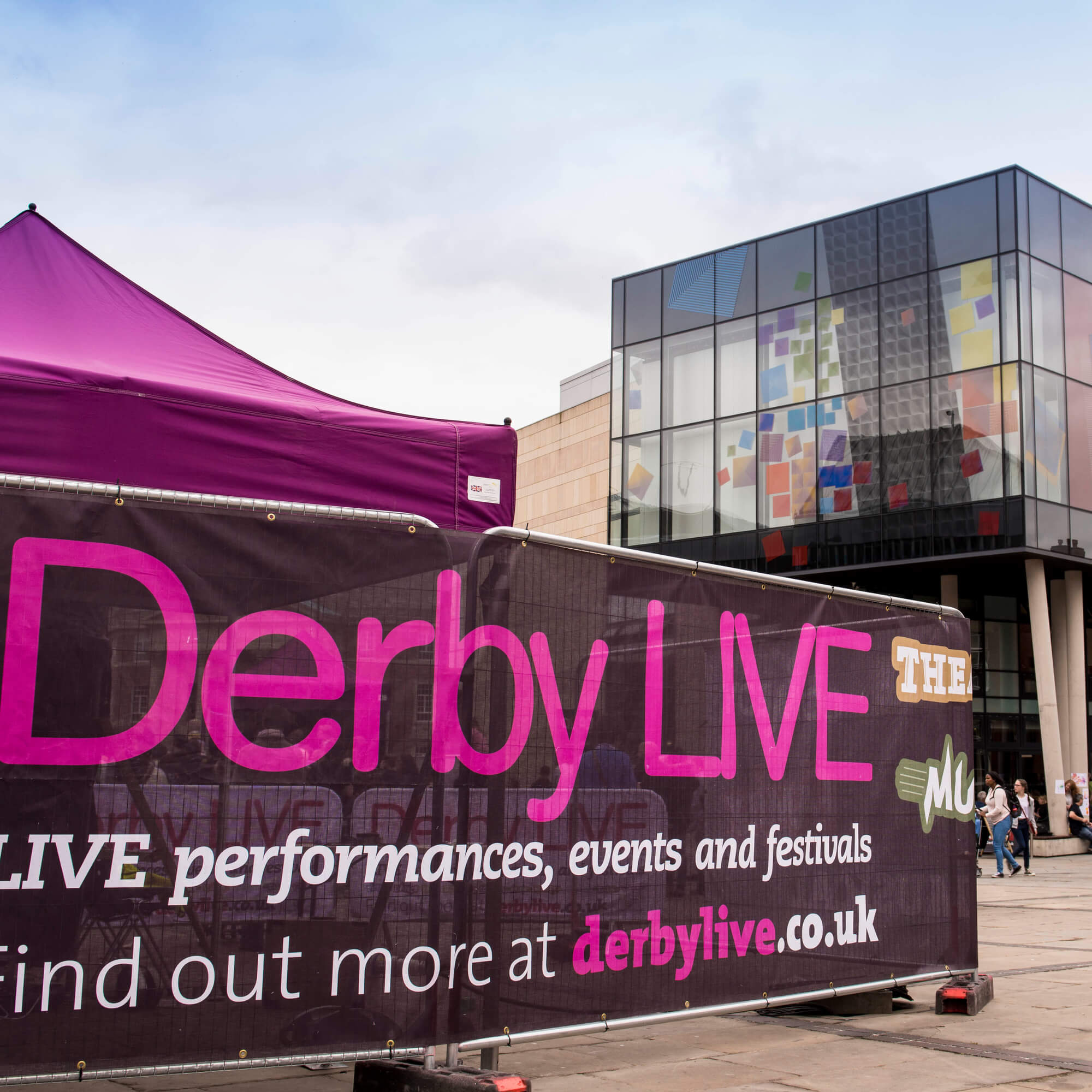 Derby Live event in city centre