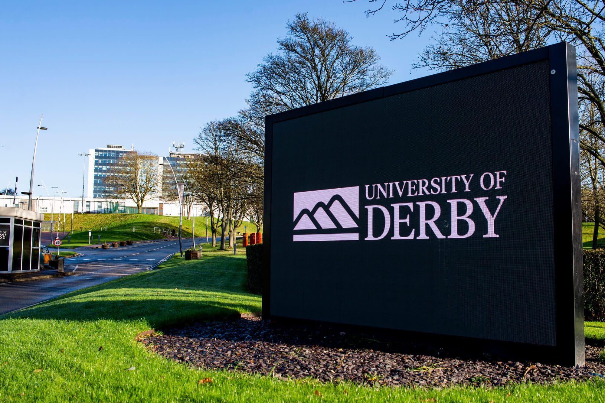 Kedleston Road, Derby Campus entrance