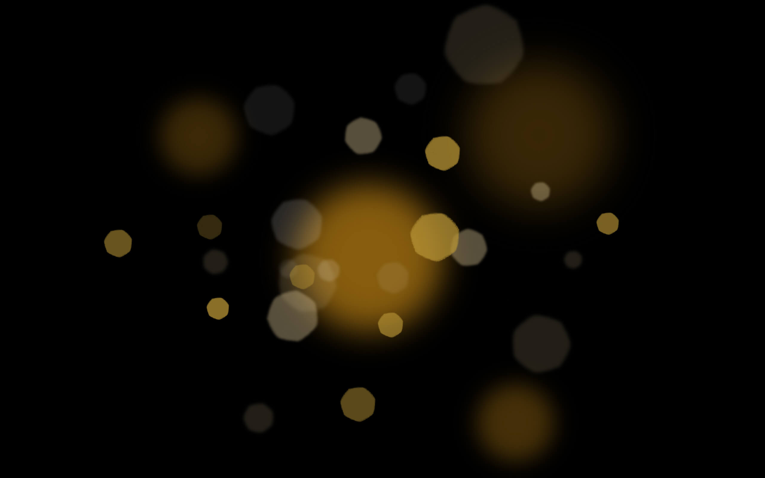 Gold bokeh effect