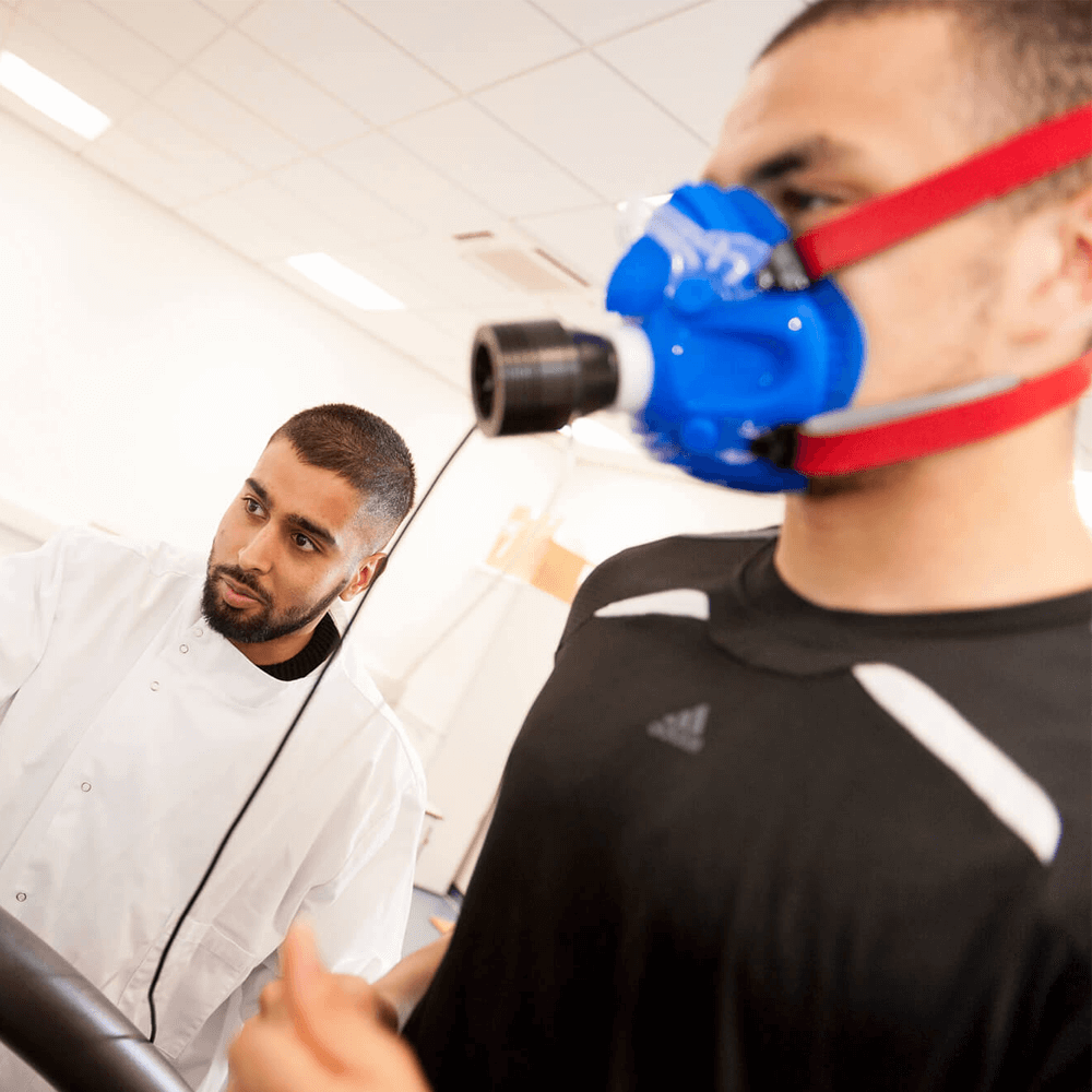 PhD student Akbar Shabir conducting sport performance research