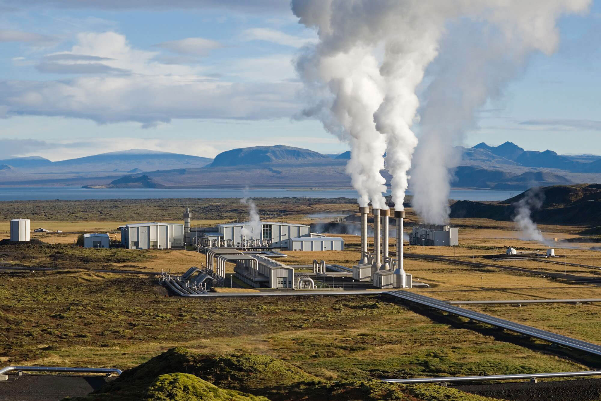 A working geothermal plant