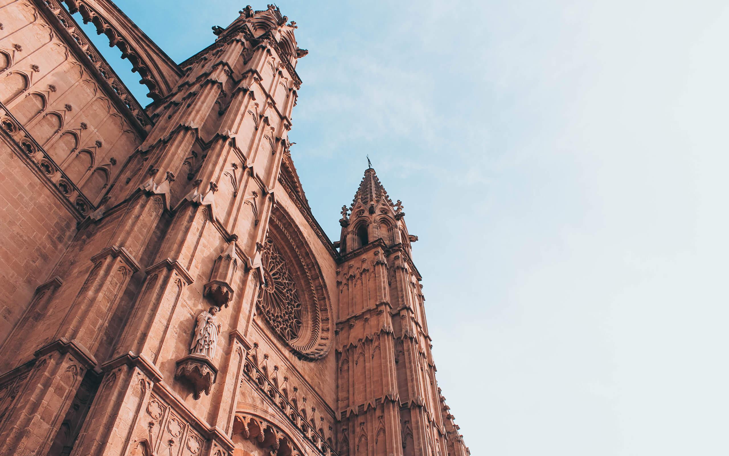 Church spire with a nice blue sky