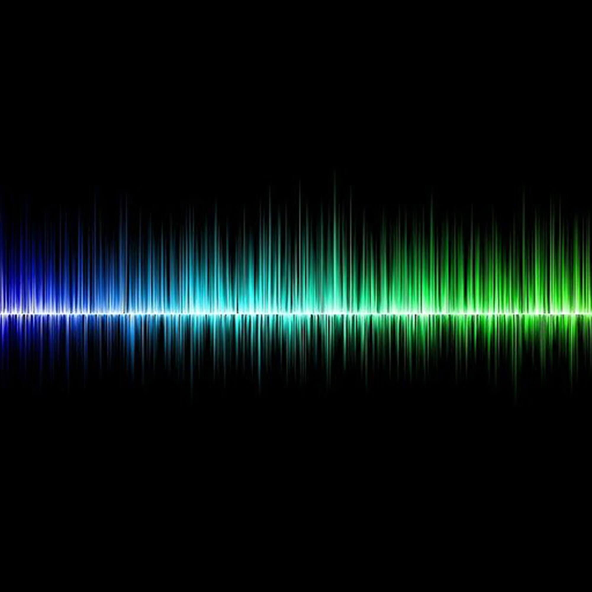 coloured sound waves on a black background